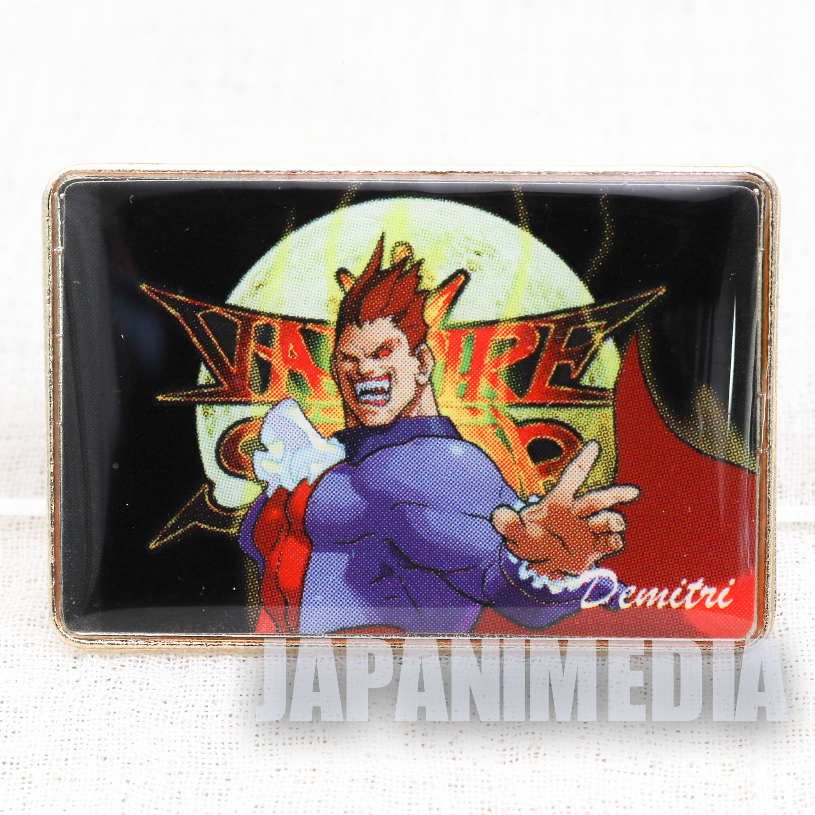 Darkstalkers (Vampire) Demitri Metal Pins Capcom Character JAPAN HUNTER SAVIOR