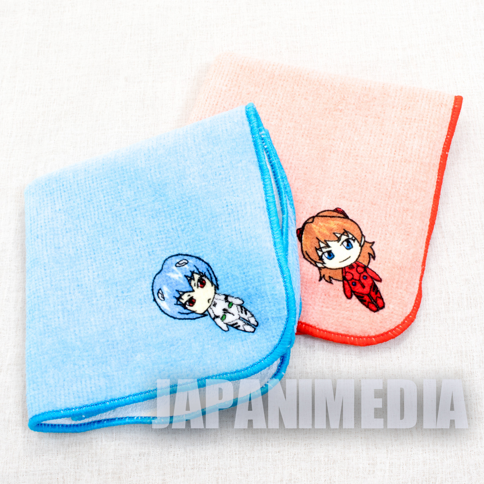 Evangelion Rei Ayanami & Asuka Langley Hand Towel Set JAPAN ANIME