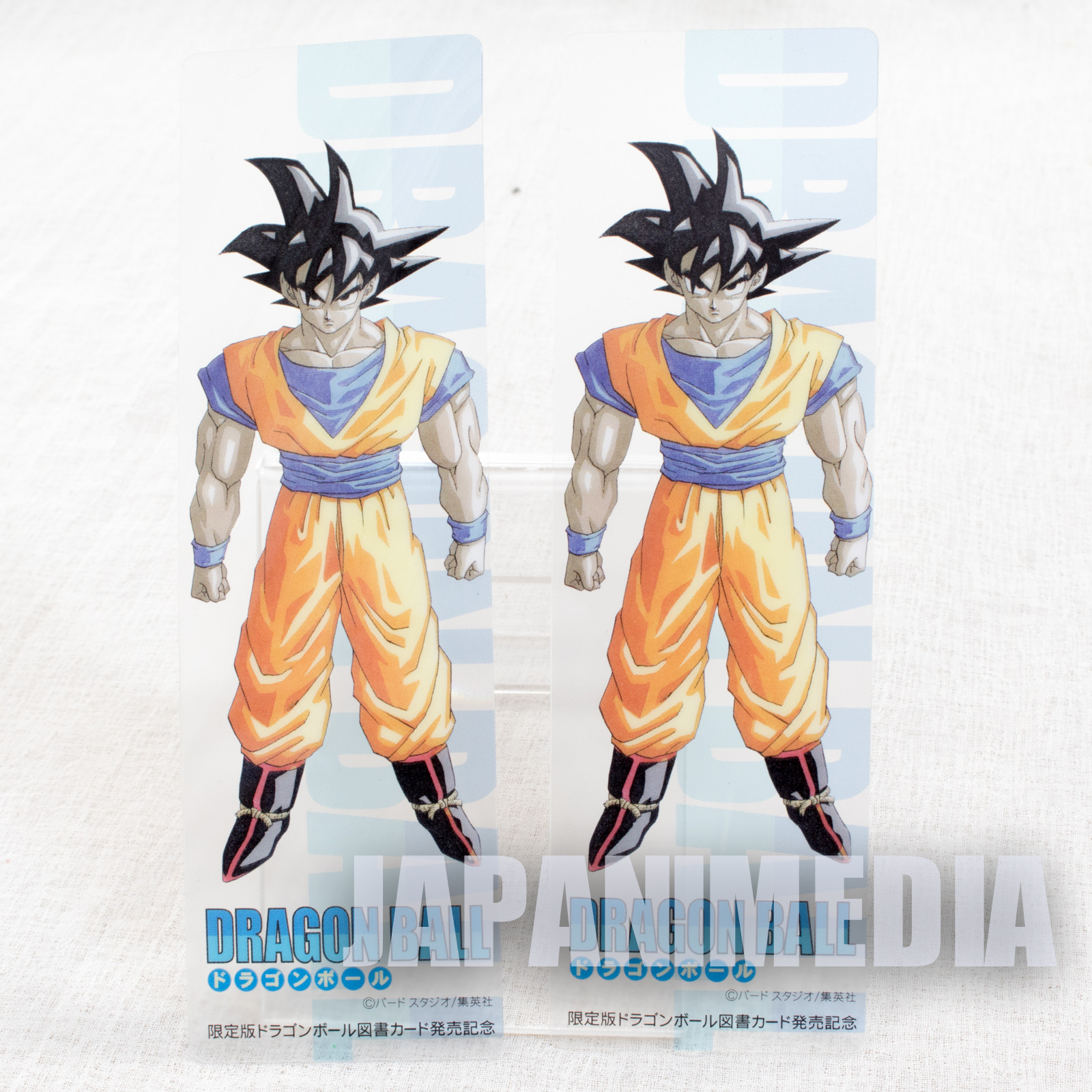 Retro RARE! Dragon Ball Z Clear Bookmarker 2pc Set Shonen Jump APAN ANIME MANGA