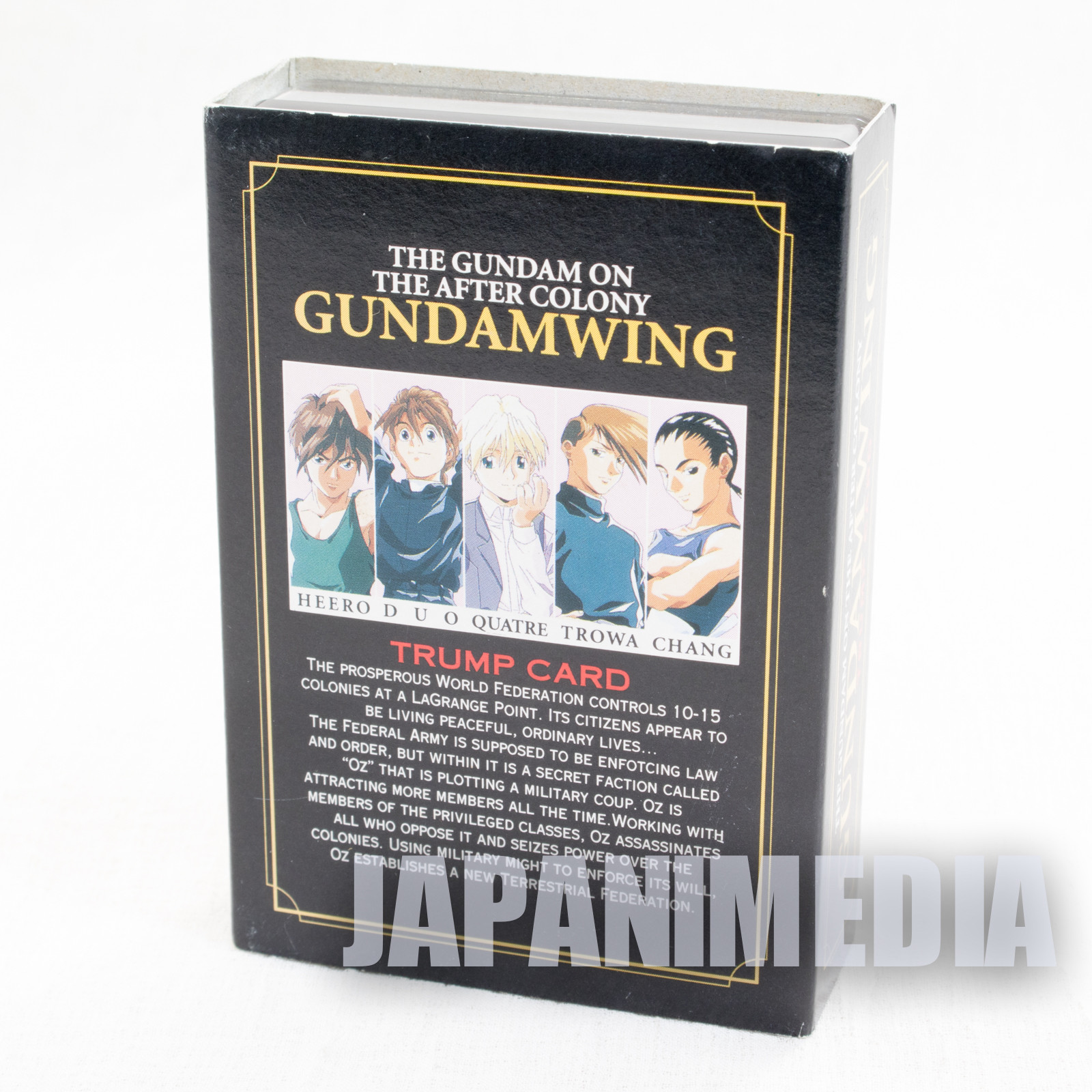 RARE! Gundam Wing Trump Playing Cards JAPAN ANIME