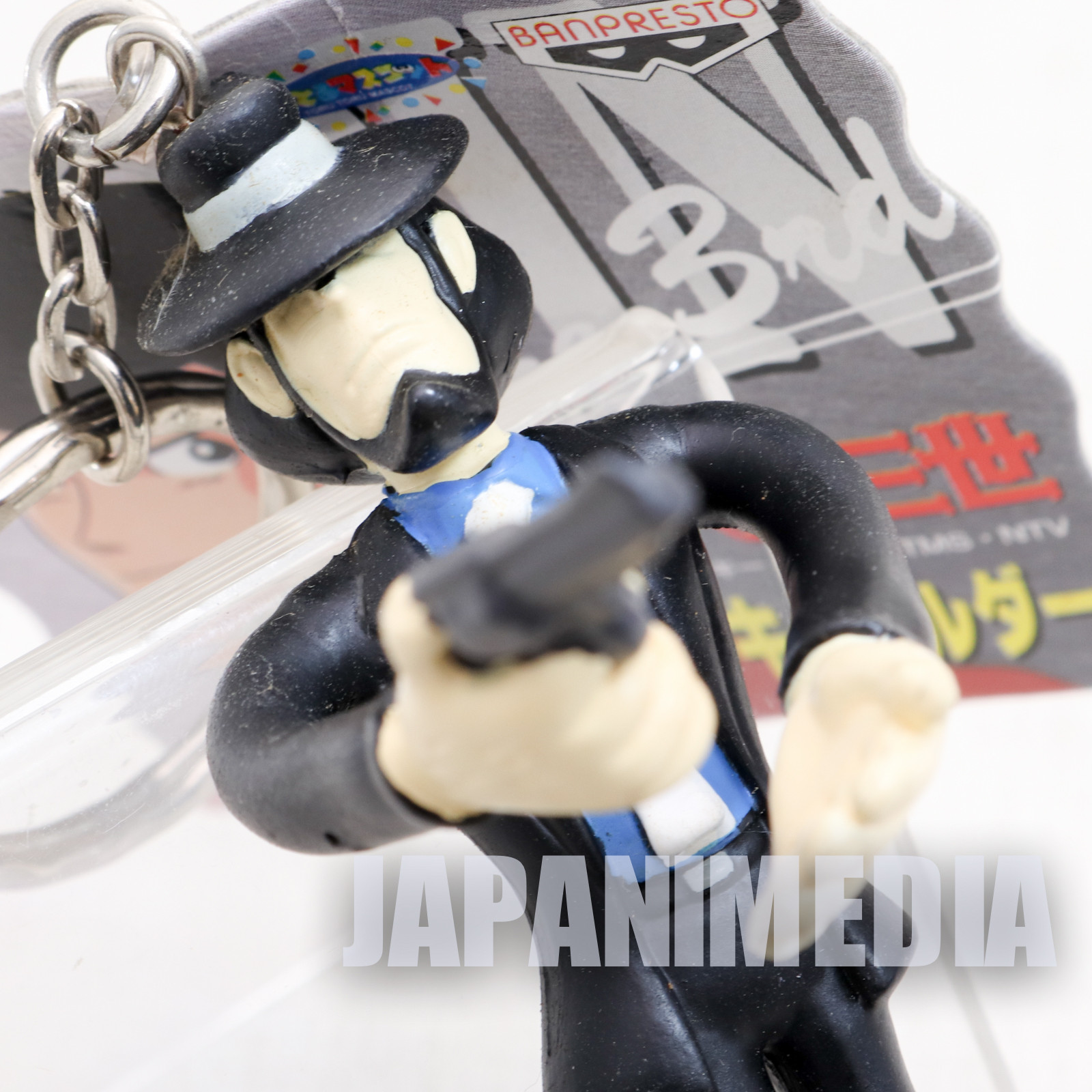 Lupin the Third (3rd) Daisuke Jigen Bendable Figure Keychain JAPAN ANIME MANGA