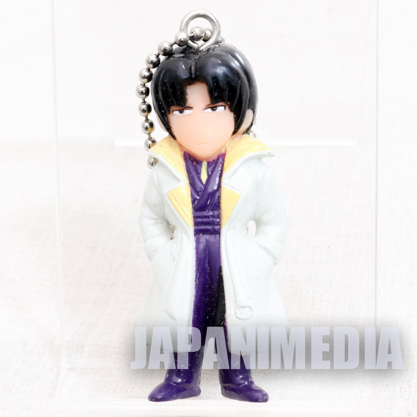 Retro RARE! Rurouni Kenshin Aoshi Shinomori Figure Ballchain JAPAN ANIME
