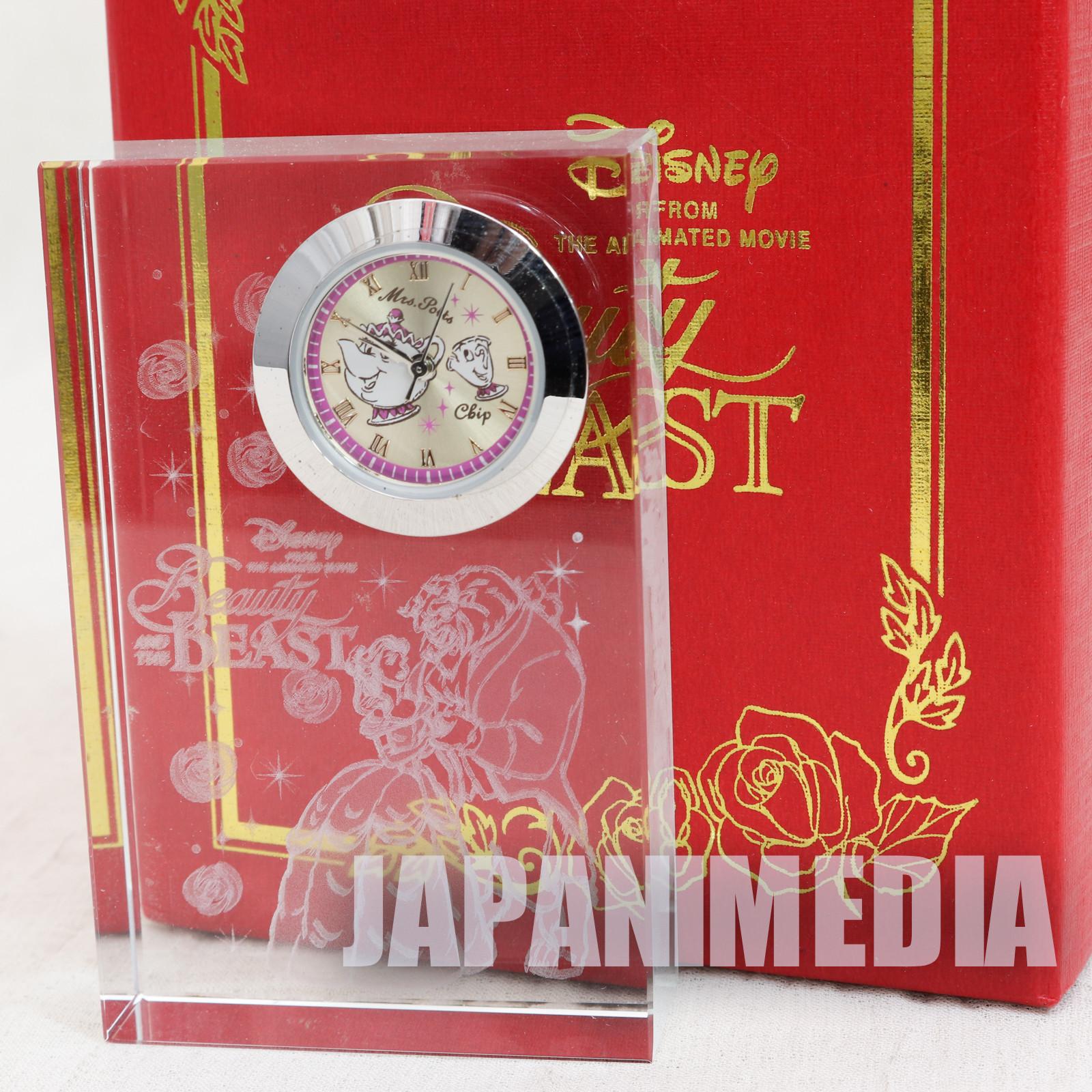 Disney Beauty and the Beast Crystal Clock SEGA JAPAN
