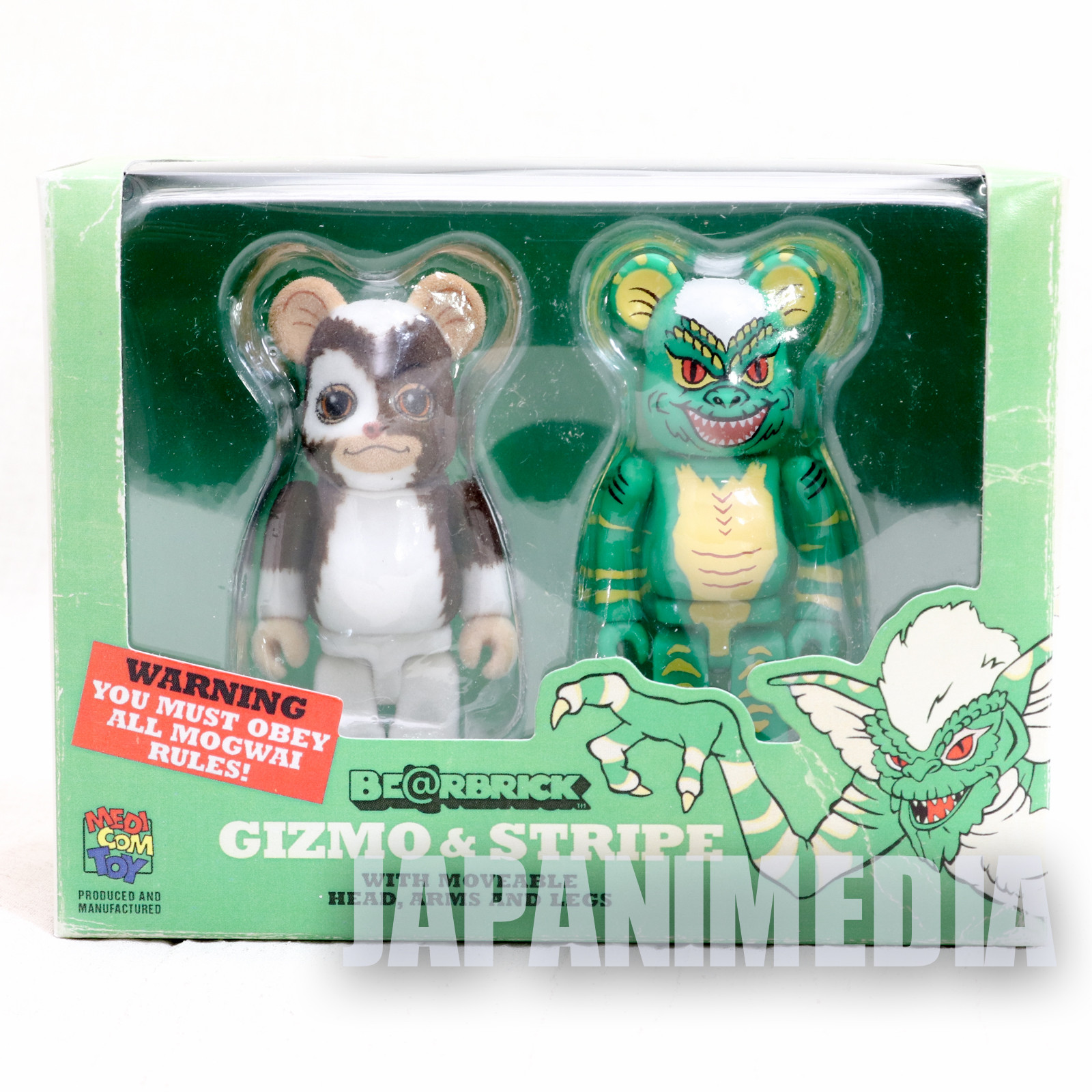 Gremlins Gizmo & Stripe Be@rbrick Figure 2pc set Medicom Toy JAPAN