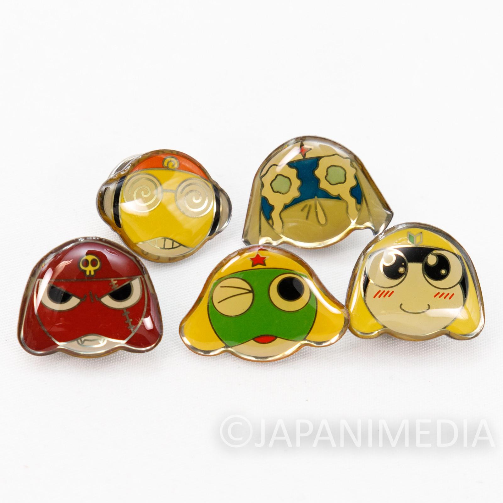 Sgt. Frog Keroro Gunso Pins 5pc Set [Keroro / Giroro / Tamama / Kururu / Dororo] JAPAN ANIME MANGA