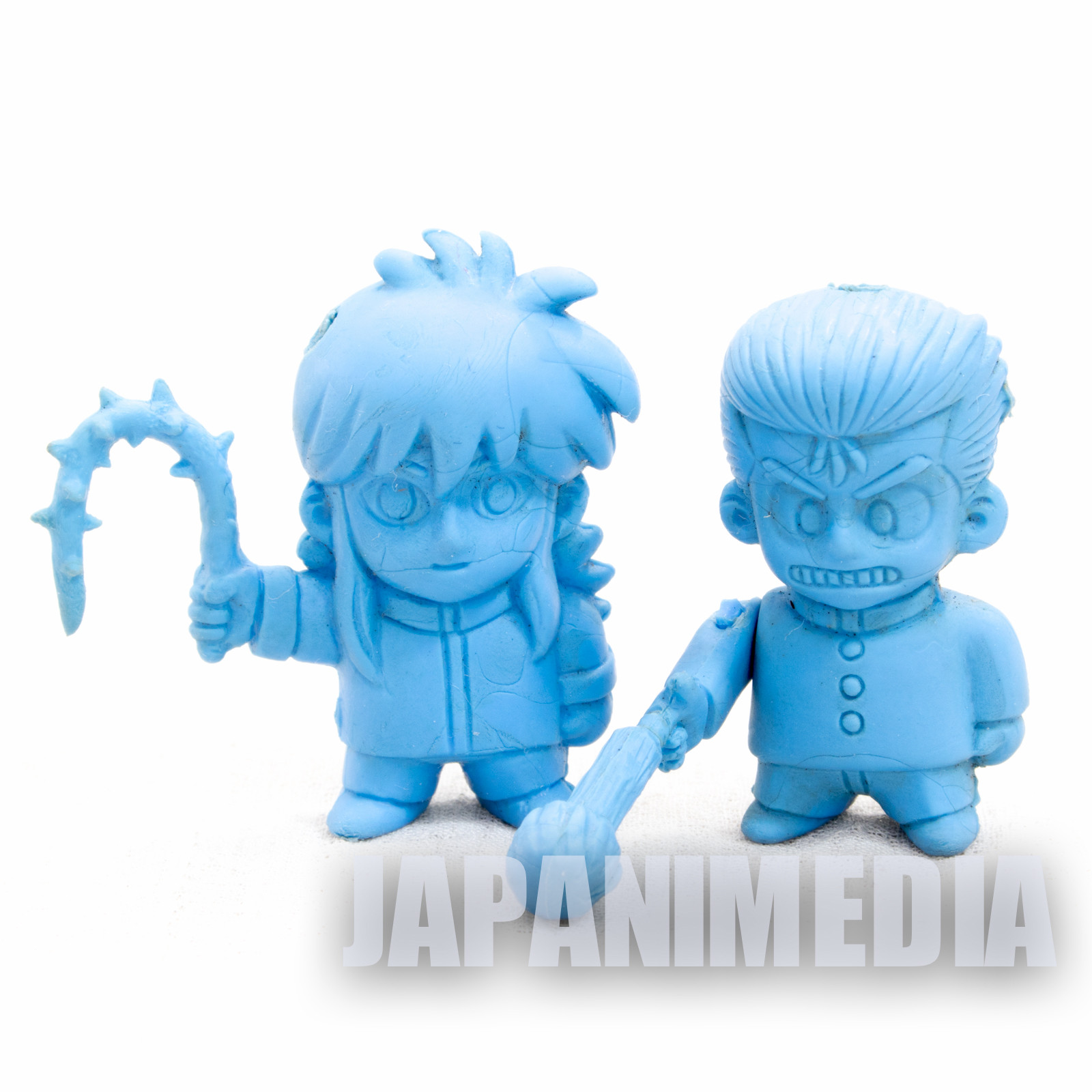 Retro Yu-Yu Hakusho Yusuke & Kurama Mini Rubber Figure 2pc Set JAPAN ANIME MANGA