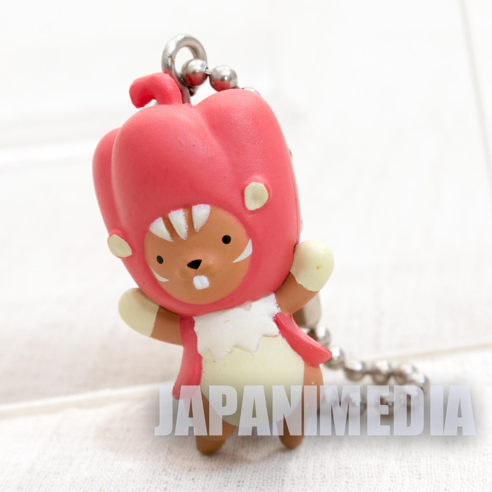 Puyopuyo!! Quest Red Paprisu Swing Figure Ball Keychain JAPAN GAME SEGA