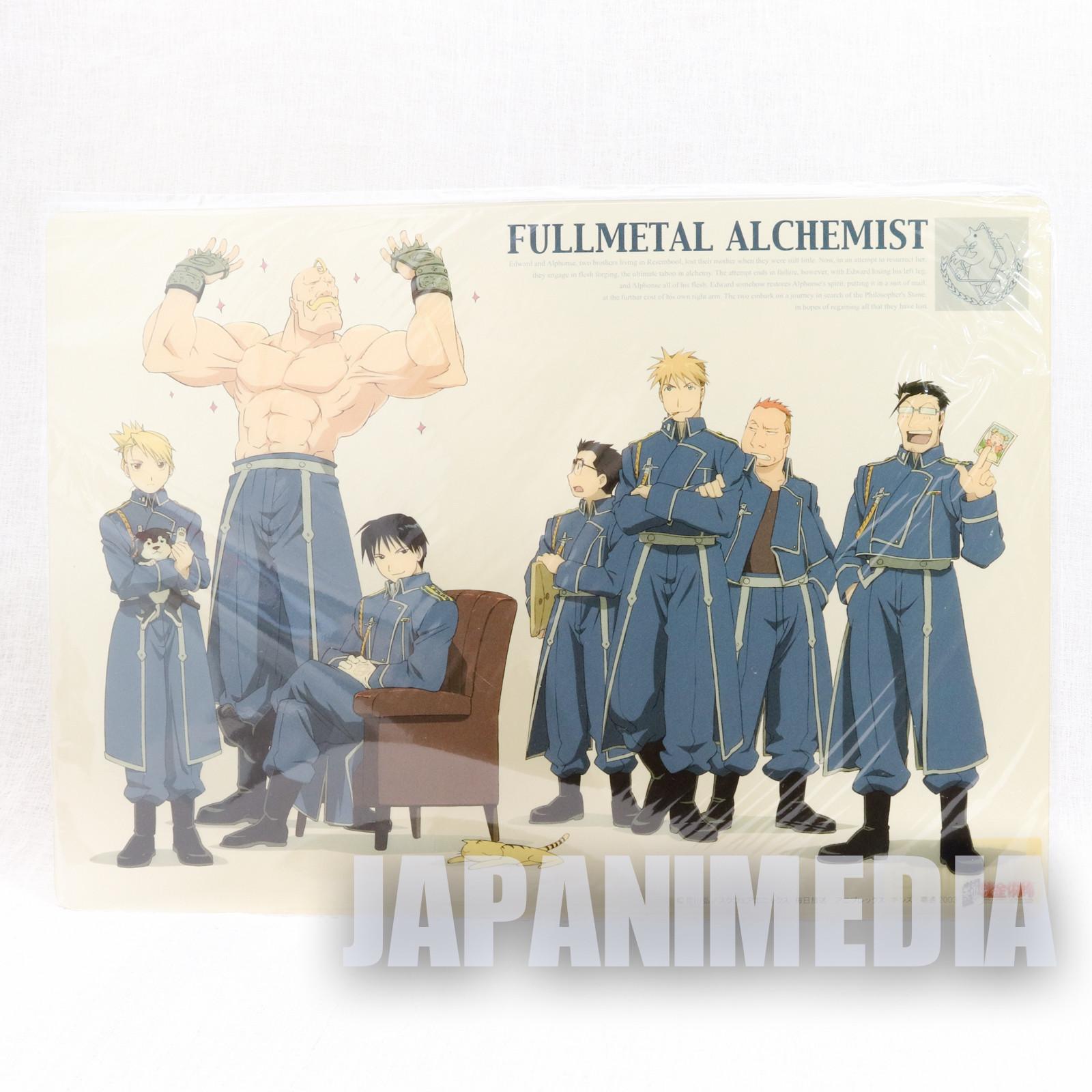 FullMetal Alchemist Plastic Pencil Board Pad Shitajiki Roy Mustang's squadron JAPAN ANIME