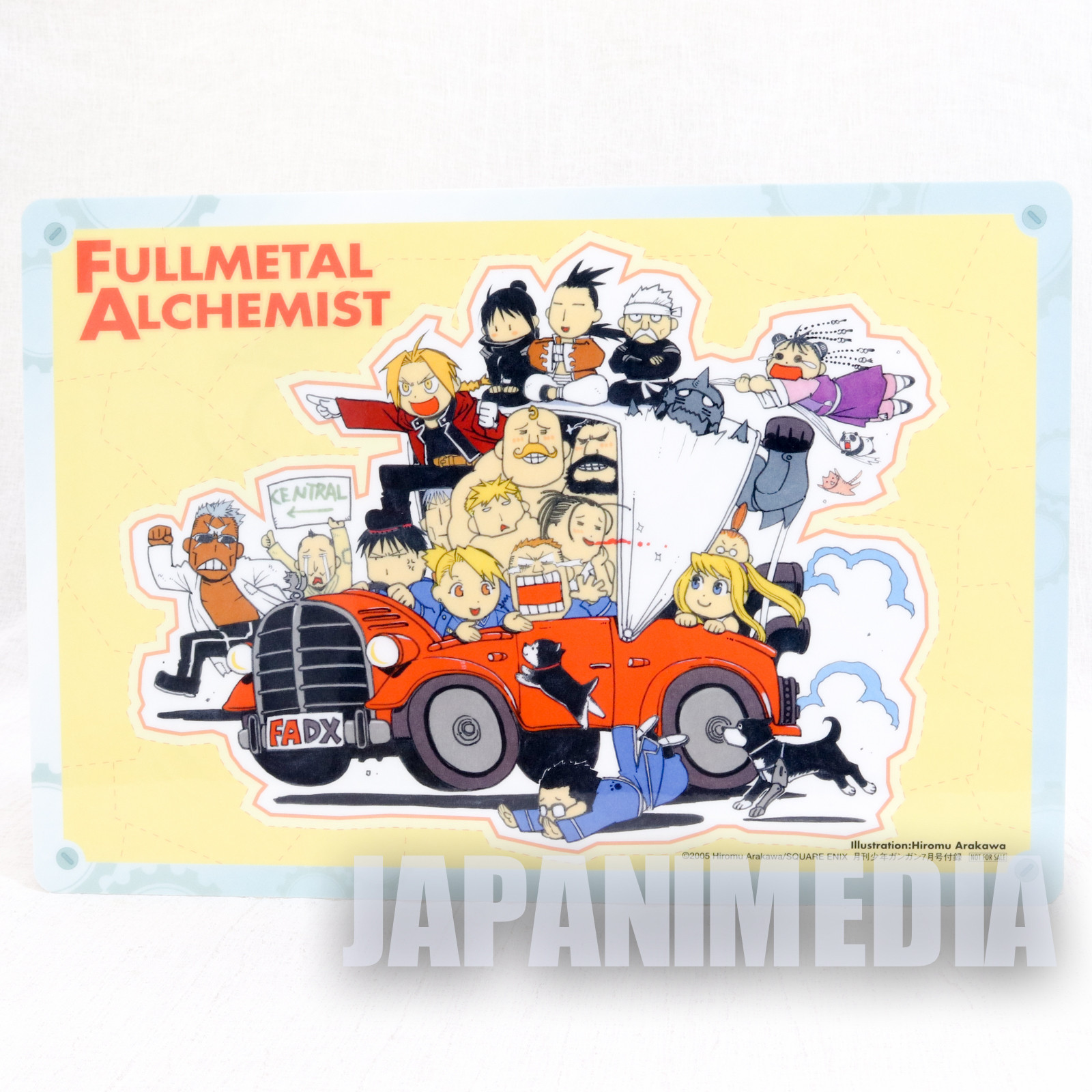 FullMetal Alchemist Plastic Pencil Board Pad Shitajiki  Girl's & Edward's side character JAPAN ANIME