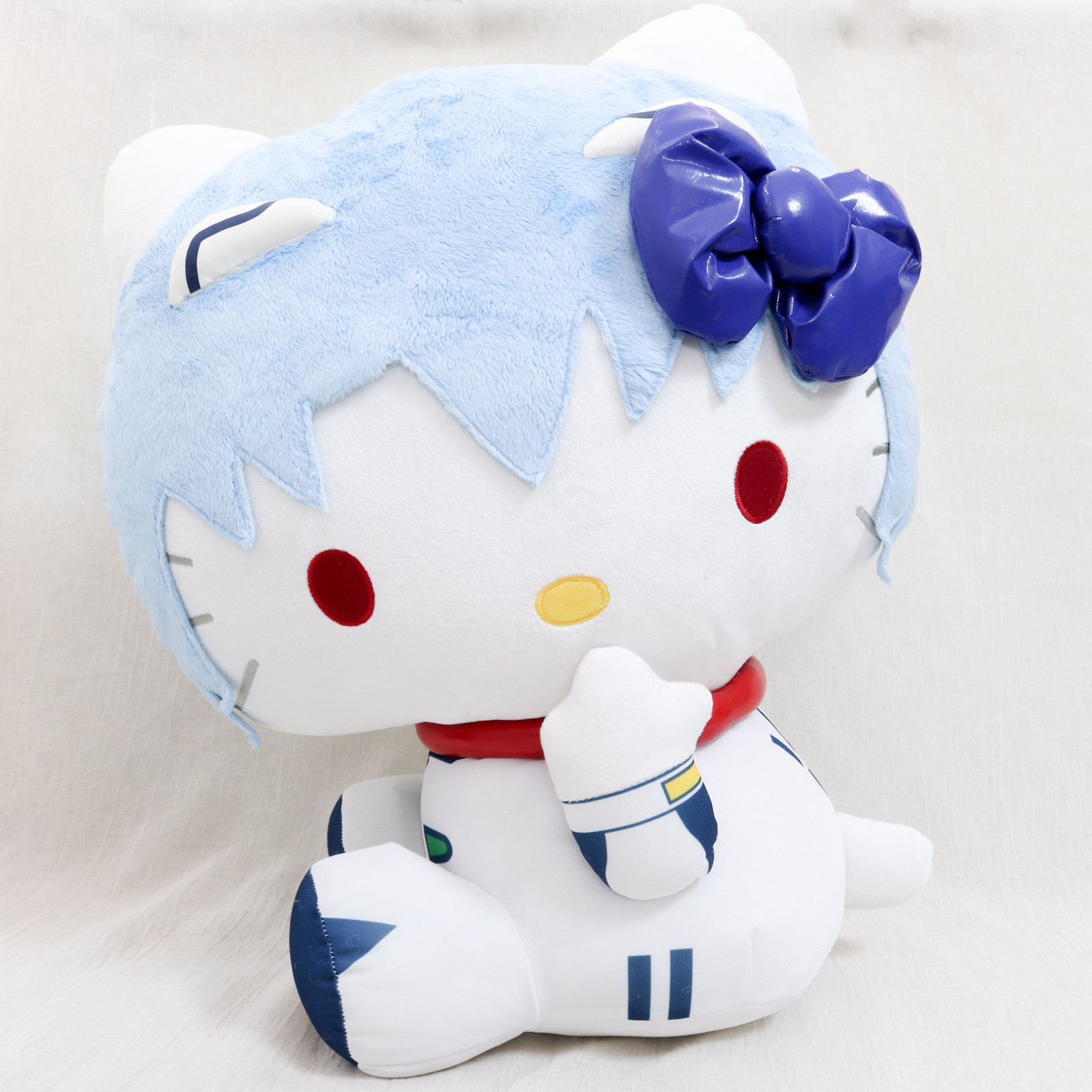 "Evangelion Hello Kitty Rei Ayanami 17"" Big Size Plush Doll Sanrio JAPAN ANIME"