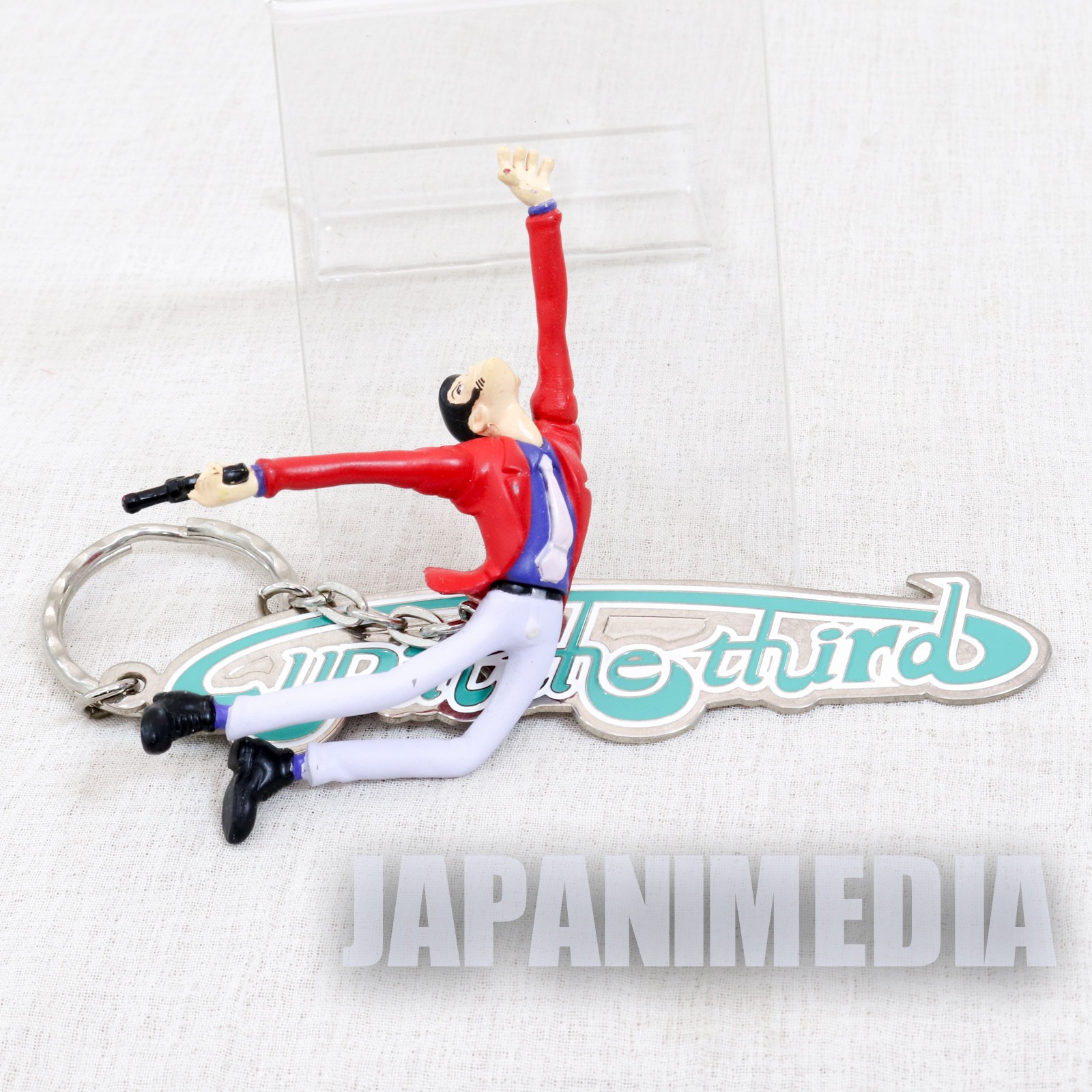 Lupin the Third (3rd) LUPIN & Metal Plate Figure Keychain JAPAN ANIME2