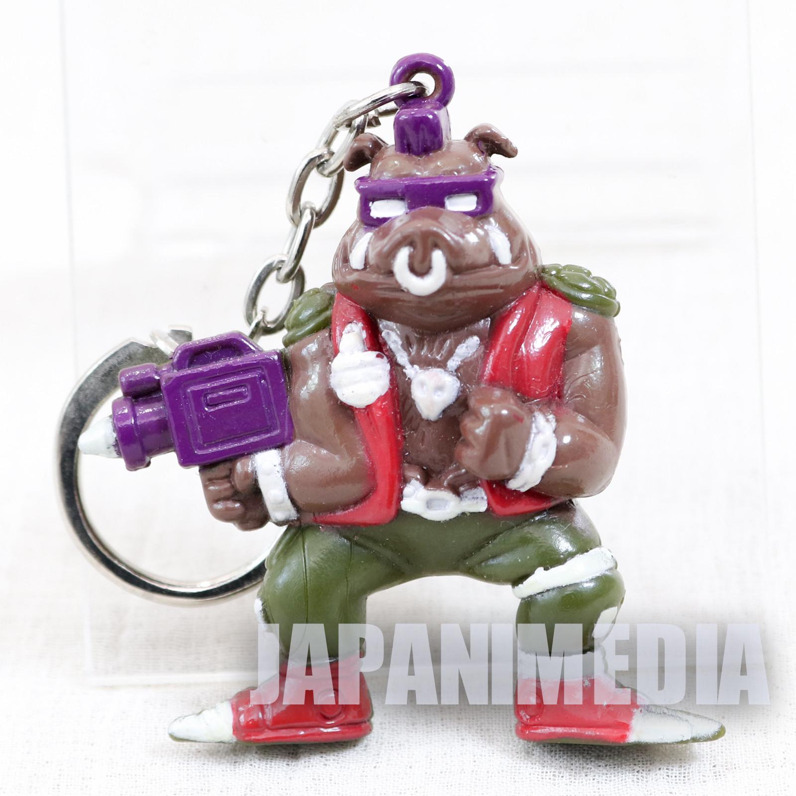Retro RARE TMNT Teenage Mutant Ninja Turtles Bebop Figure Key Chain 1994 2