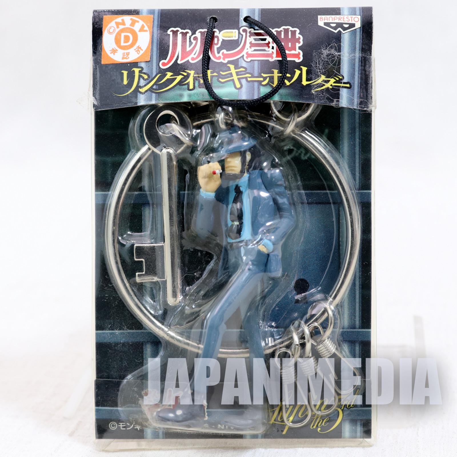 Lupin the Third (3rd) Daisuke Jigen Figure Keychain with Ring JAPAN ANIME