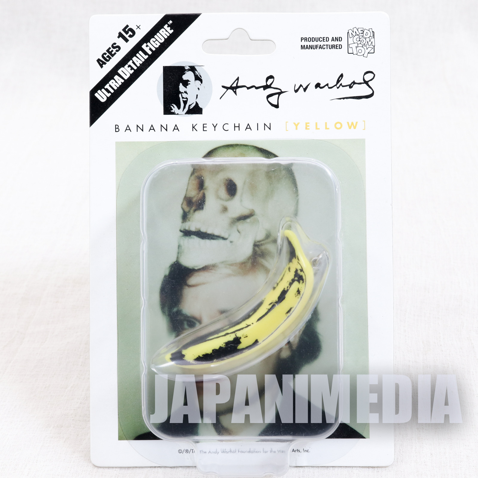 Andy Warhol Banana Keychain Yellow Ver. Ultra Detail Figure Medicom Toy JAPAN