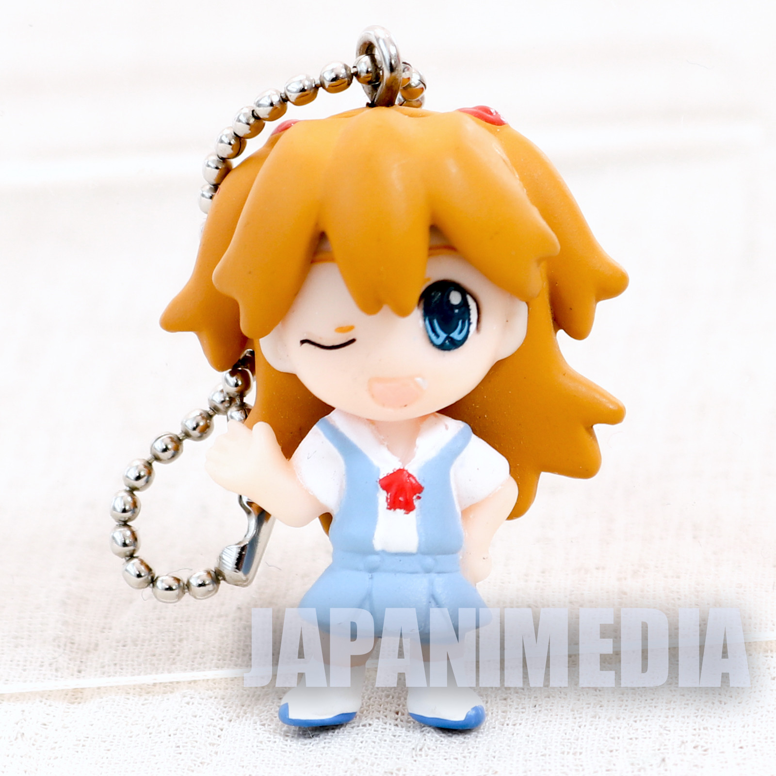 Evangelion Asuka Langley School Uniform Mini Figure Ballchain Petit EVA DE Instrumentality Project ANIME JAPAN