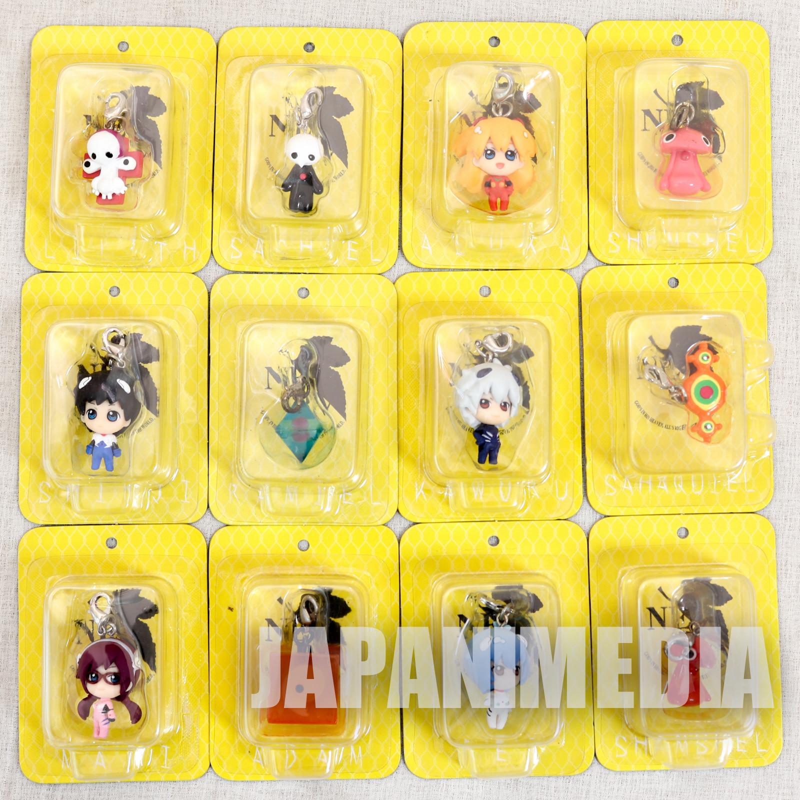 Set of 12 Evangelion Petit EVA Chara Fortune Mini Figure Megahouse JAPAN