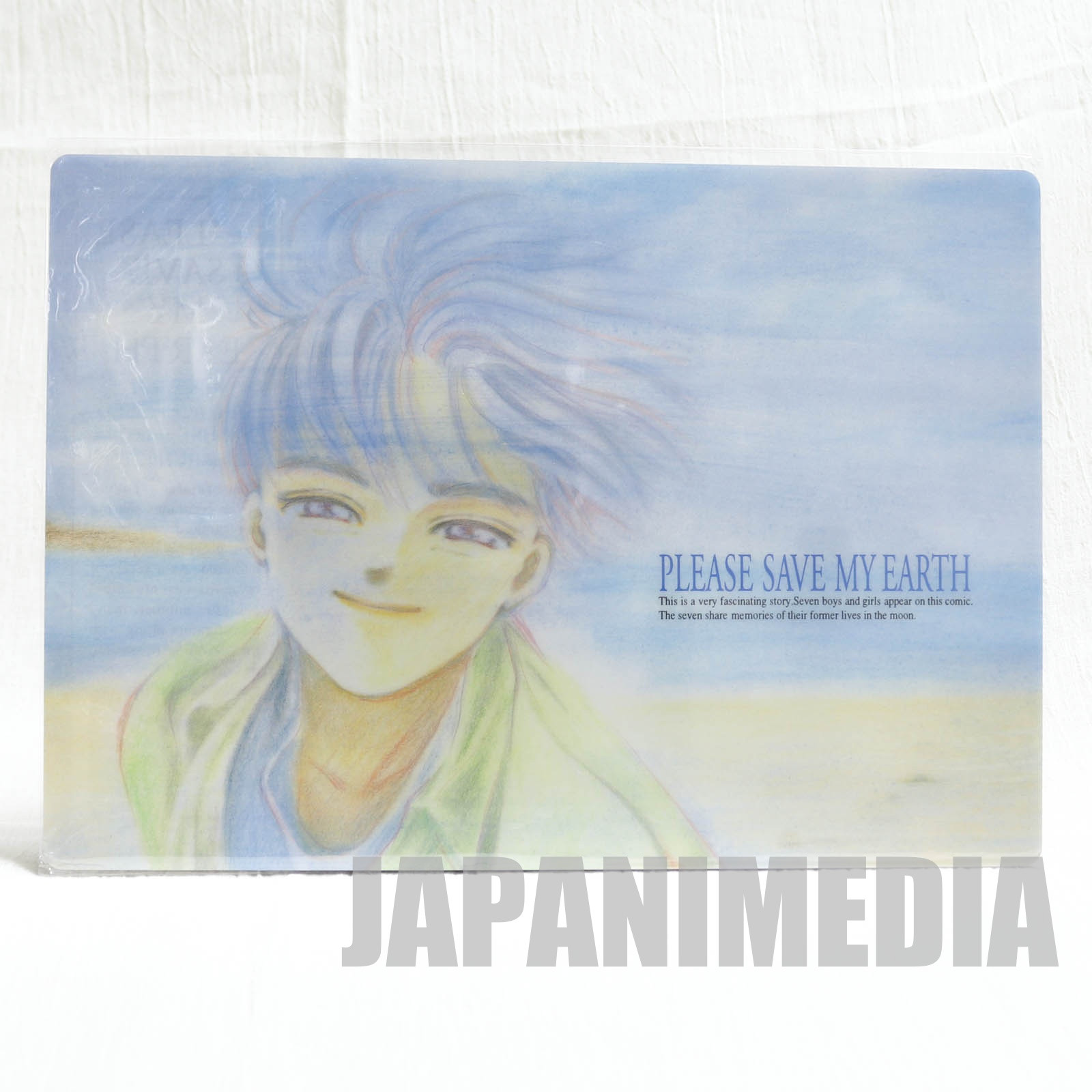 Please Save My Earth Rin Kobayashi Plastic Pencil Board Pad Shitajiki JAPAN ANIME
