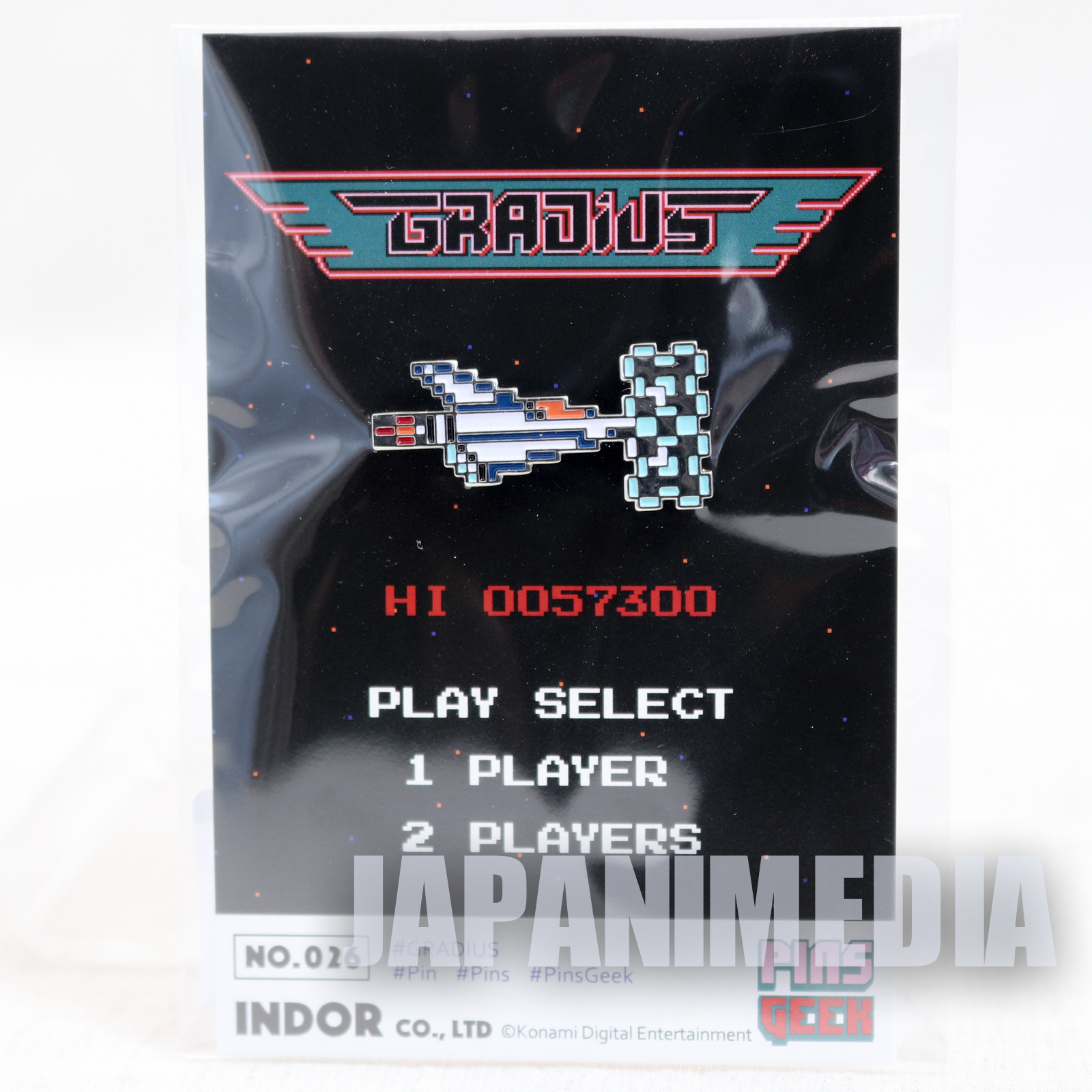 Gradius Nemesis Metal Pins JAPAN GAME KONAMI