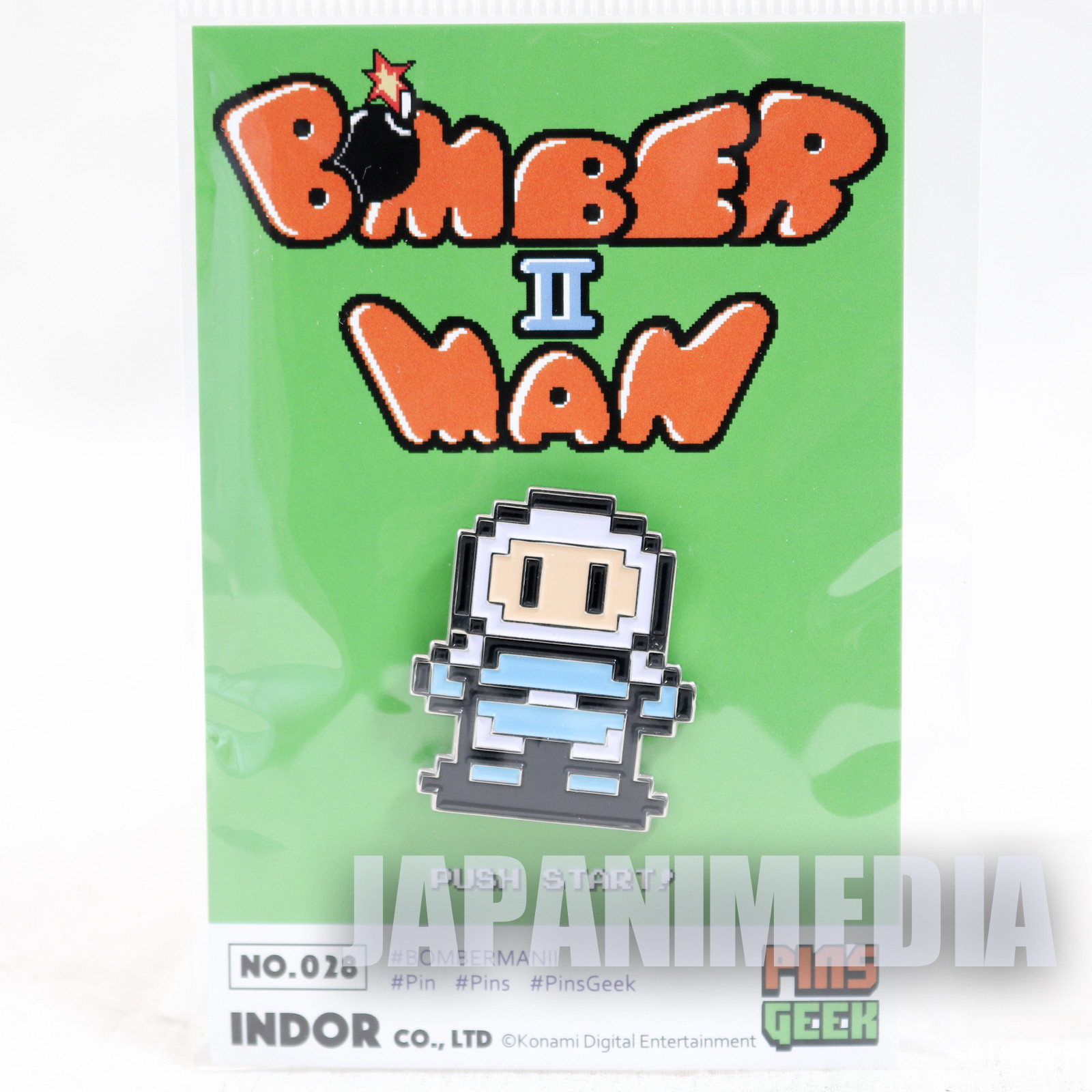 Bomber Man Metal Pins JAPAN GAME HUDSON