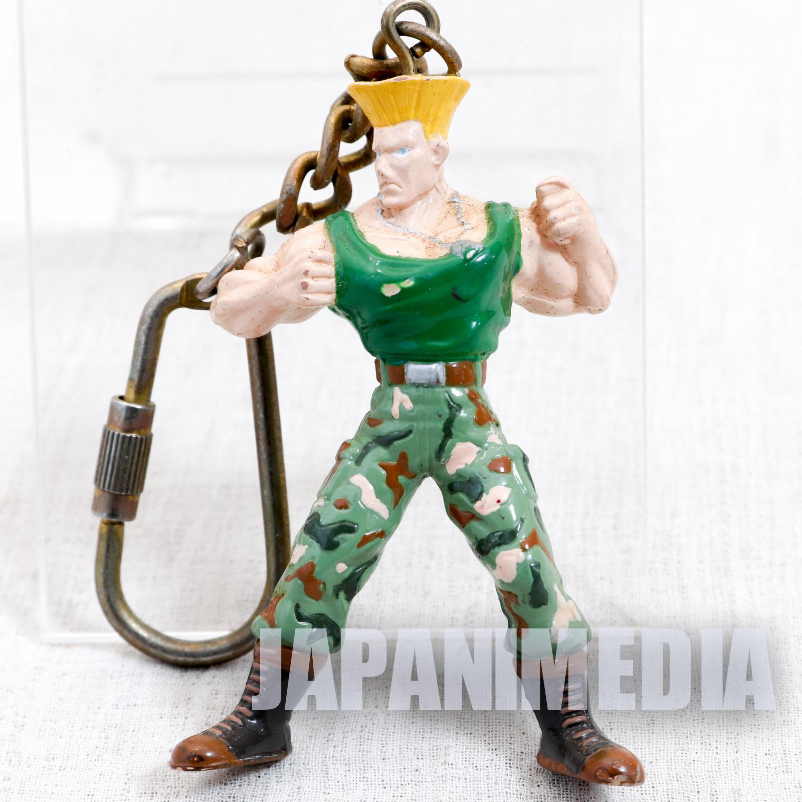 Retro RARE Street Fighter 2 Guile Mini Figure Key Chain JAPAN GAME CAPCOM