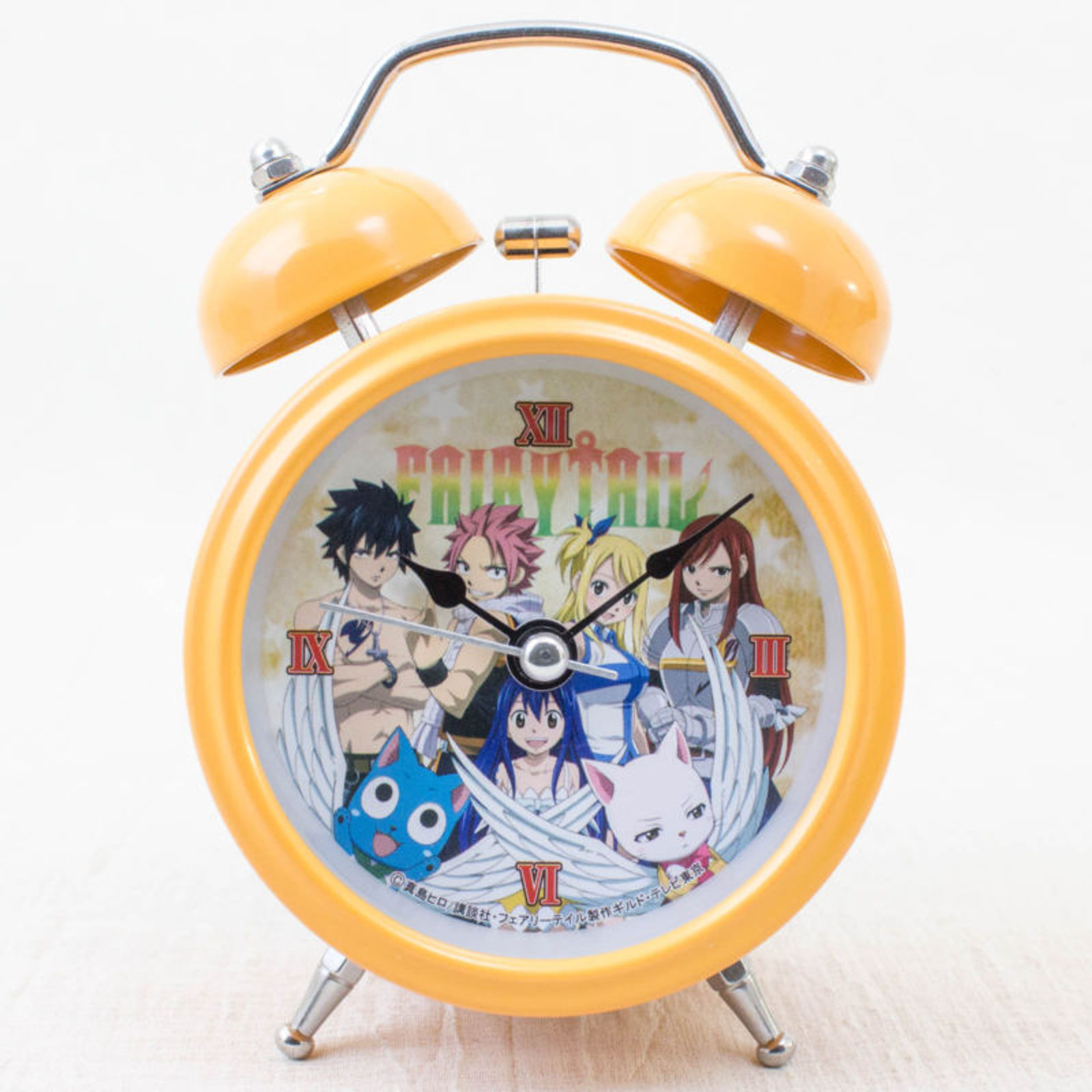 FAIRY TAIL Mini Alarm Clock Orange Ver. Taito JAPAN ANIME MANGA