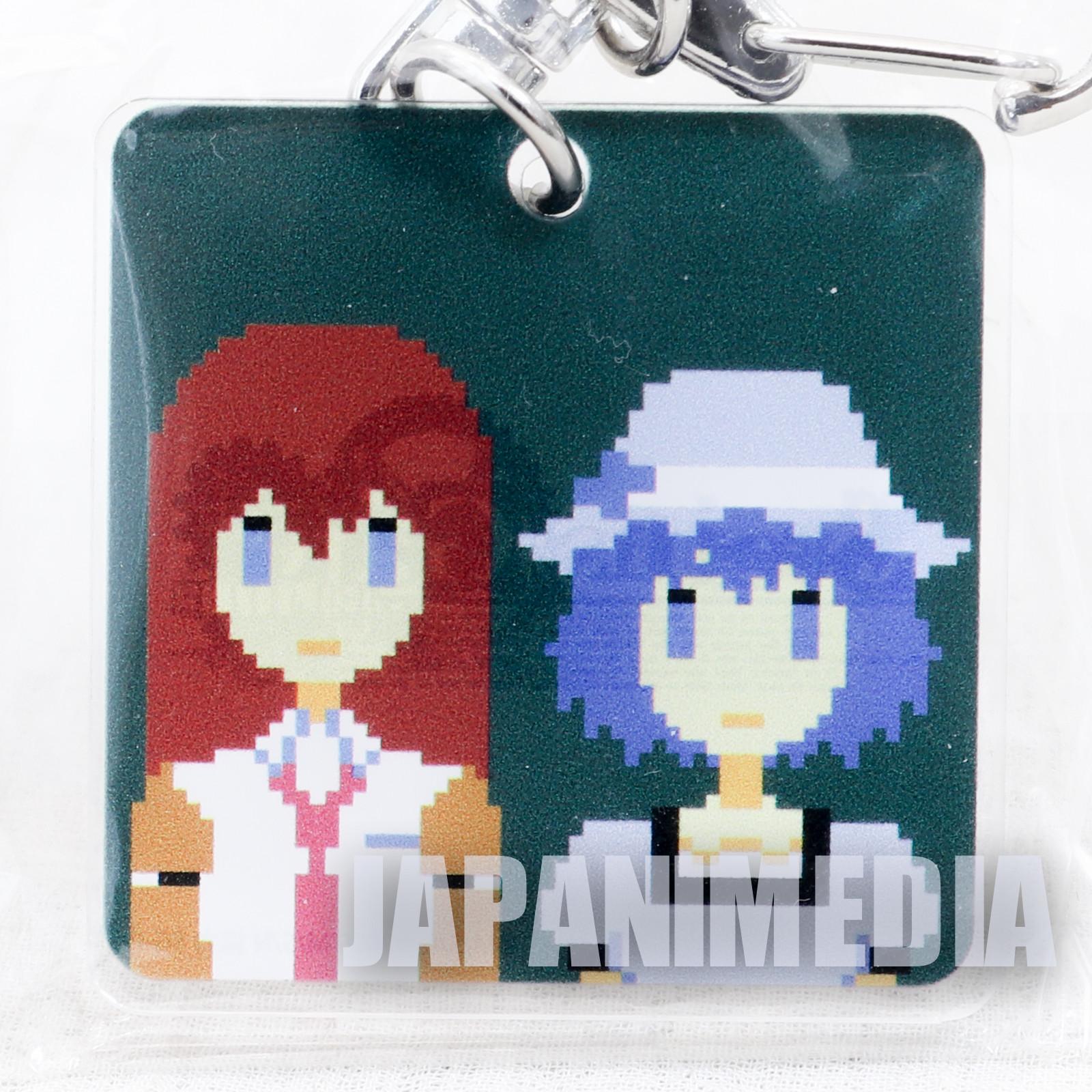 Steins ; Gate Elite Dot Character Plate Keychain Mayuri Shiina & Kurisu Makise