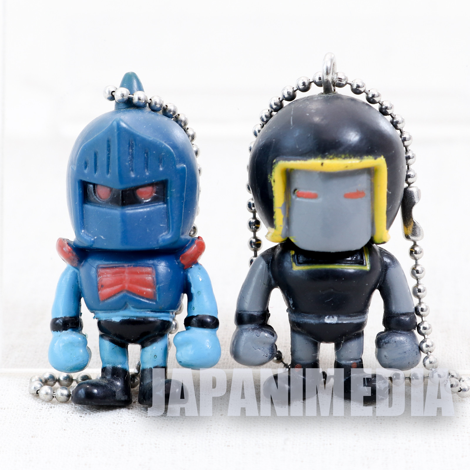 KINNIKUMAN Robin Mask + Warsman Set Panson Works Mini Figure Ballchain JAPAN