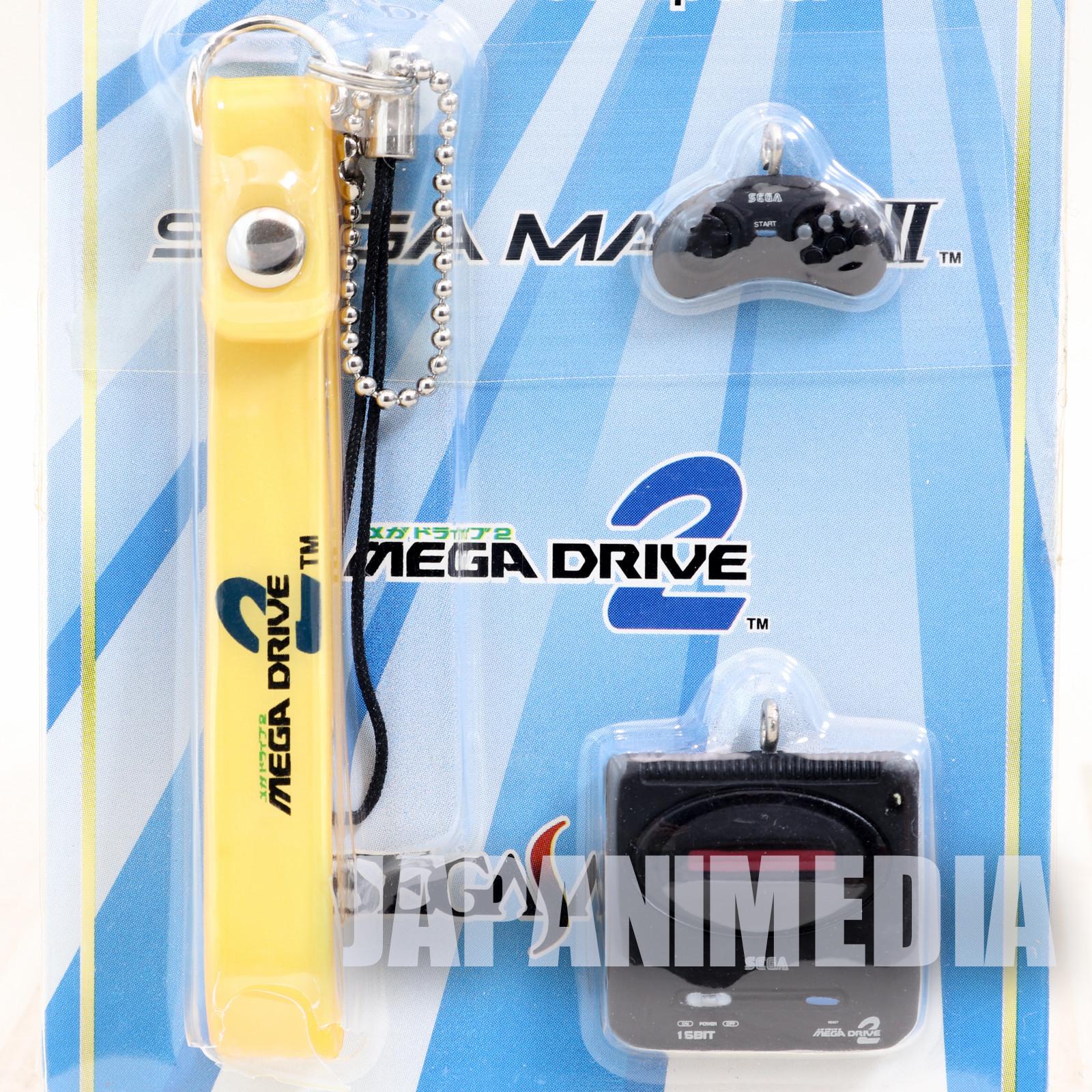 RARE!! SEGA Game History Miniature Figure Strap MEGA DRIVE2 JAPAN