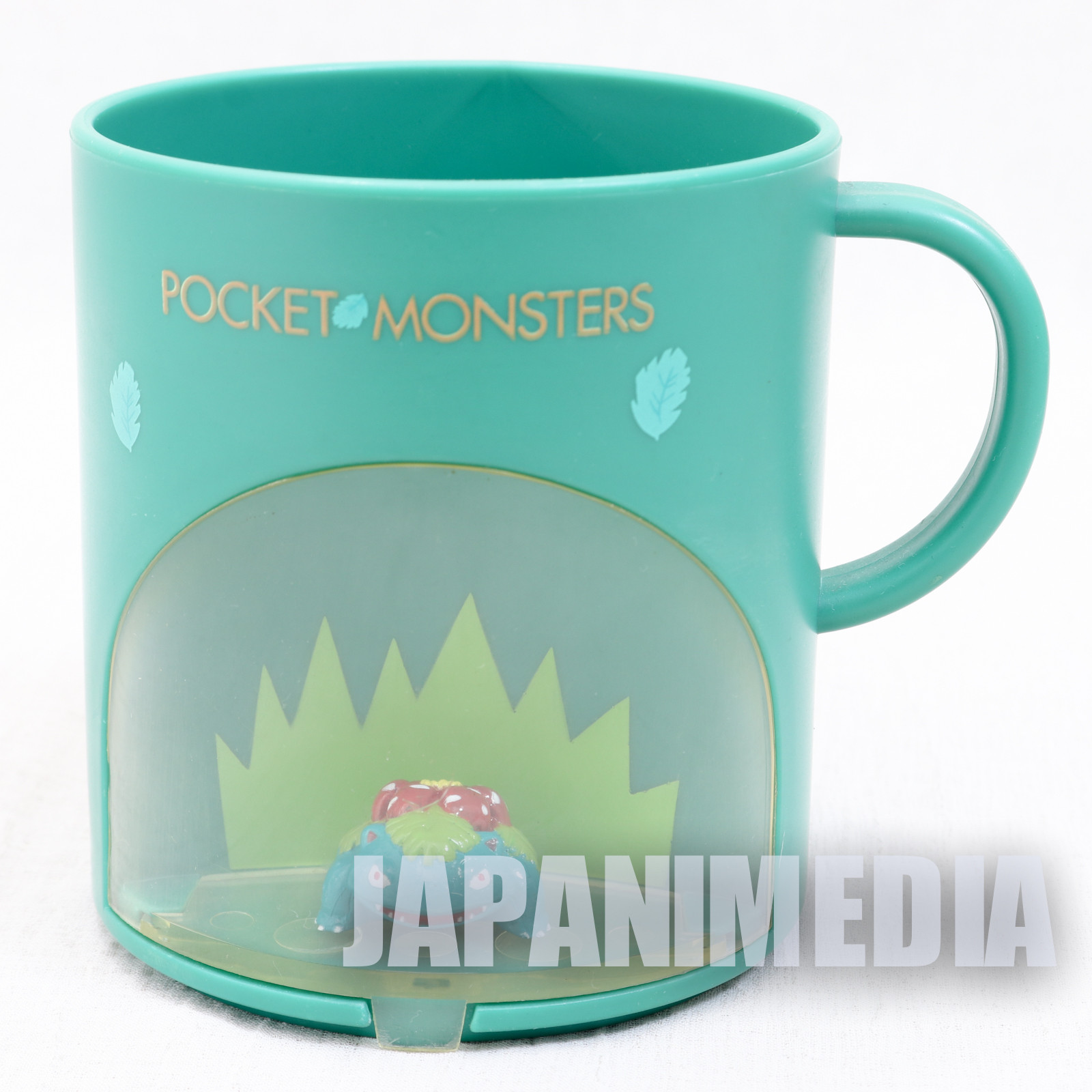 Retro RARE! Pokemon Venusaur Fushigibana Figure in Plastic Mug Banpresto JAPAN