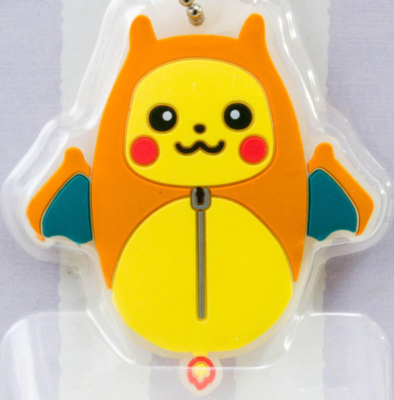 Pokemon Pikachu Nebukuro Sleeping Bag Mascot Rubber Ball Chain JAPAN ANIME MANGA