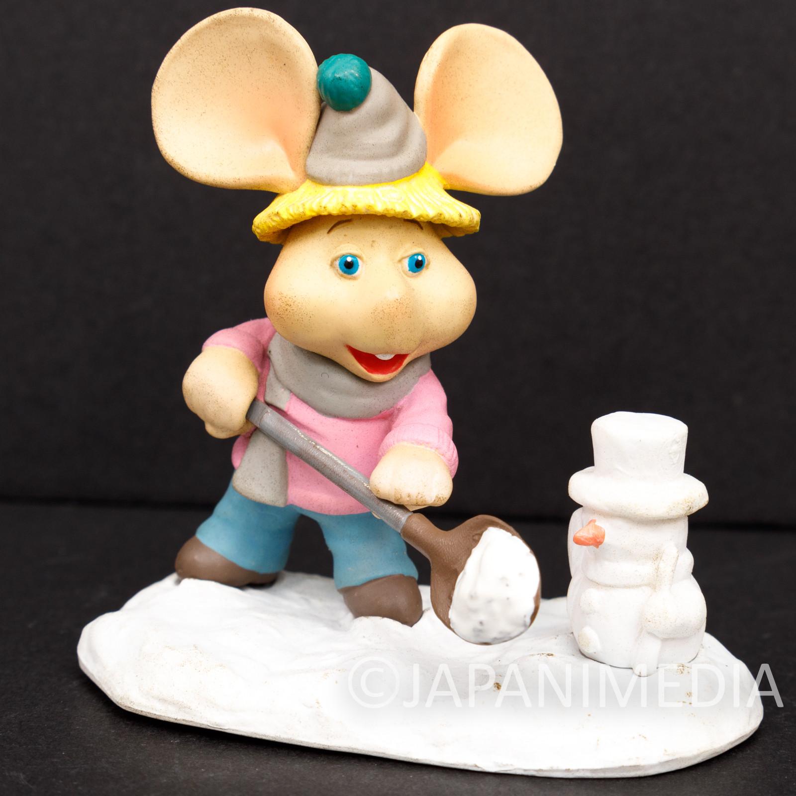 Topo Gigio with Snowman Miniature Diorama Figure