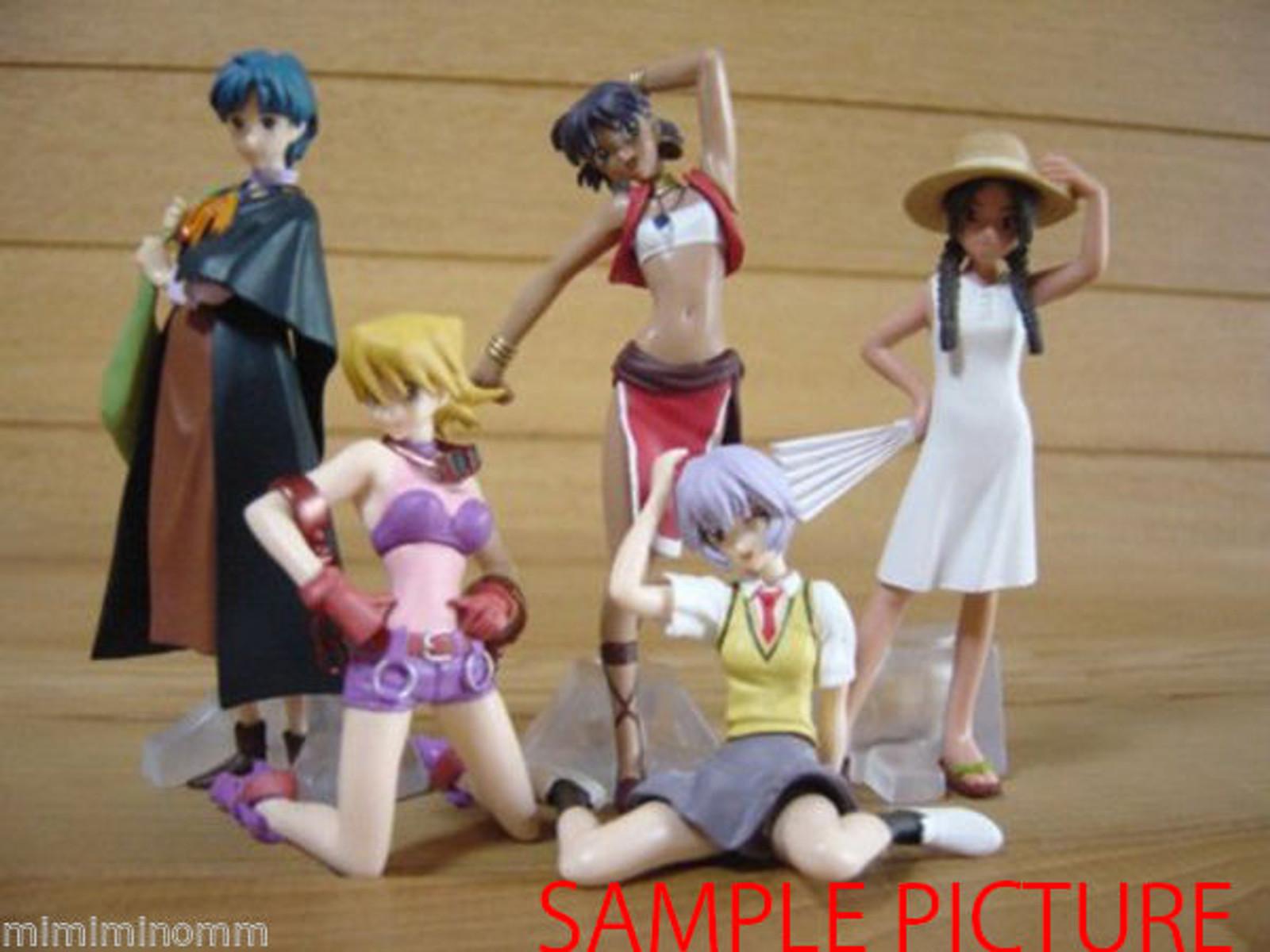 Set of 5 GAINAX Heroines Mini Figure Vol.1 [Leiqunni/Nadia/Rei/Arumi/Sayoko] JAPAN