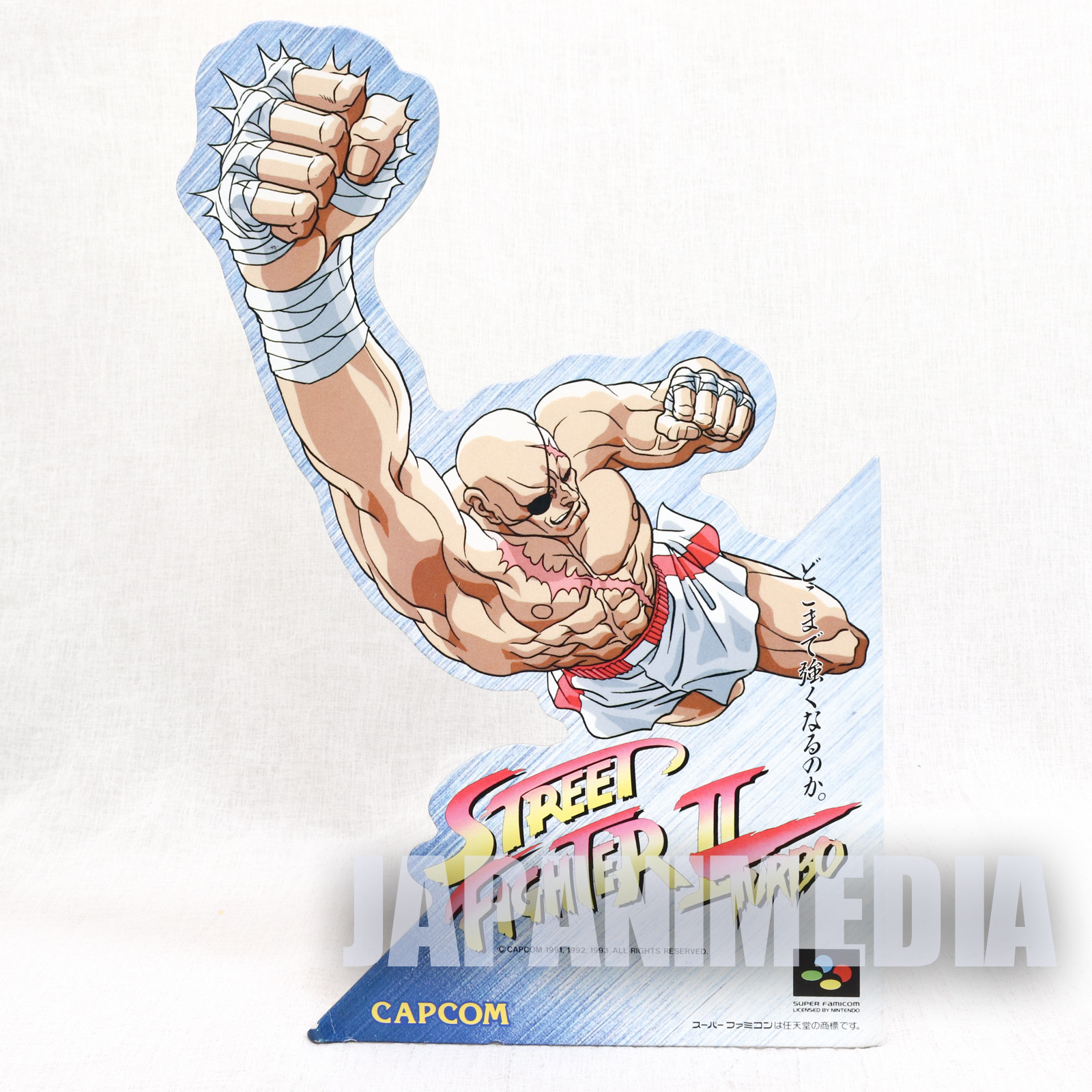 Retro Street Fighter Turbo Sagat Super Famicom Promotional POP Stand Panel