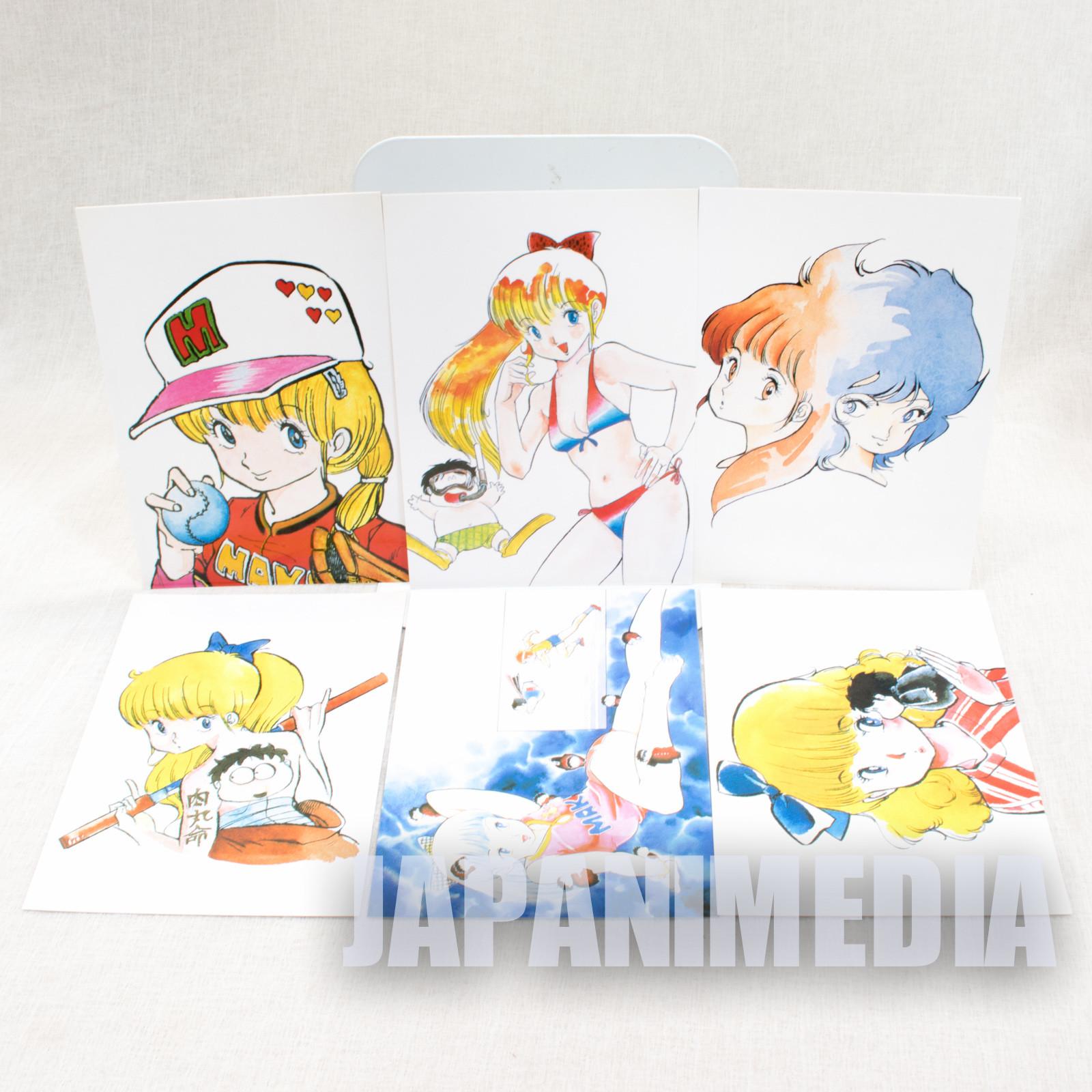 RARE! Sasuga no Sarutobi Nikumaru Mako Kiriga Post Card 6pc Set JAPAN ANIME