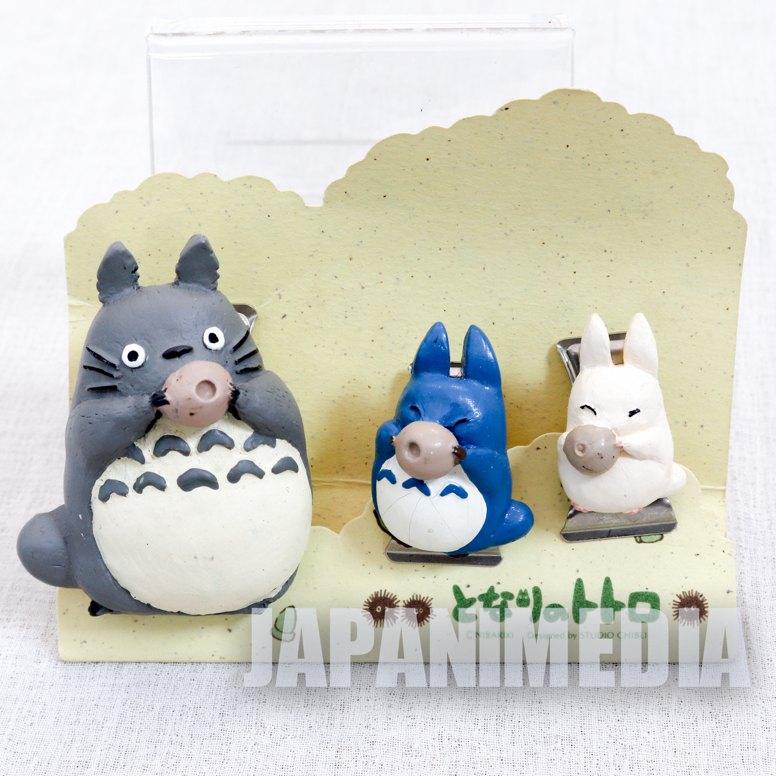My Neighbor Totoro Mascot Clip 3pc Set Ghibli JAPAN ANIME