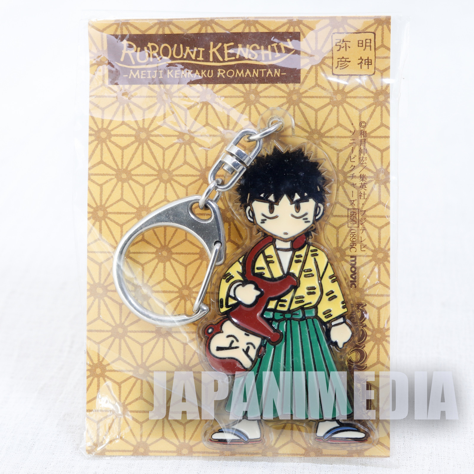 Retro RARE! Rurouni Kenshin Yahiko Myoujin Acrylic Mascot Keychain JAPAN