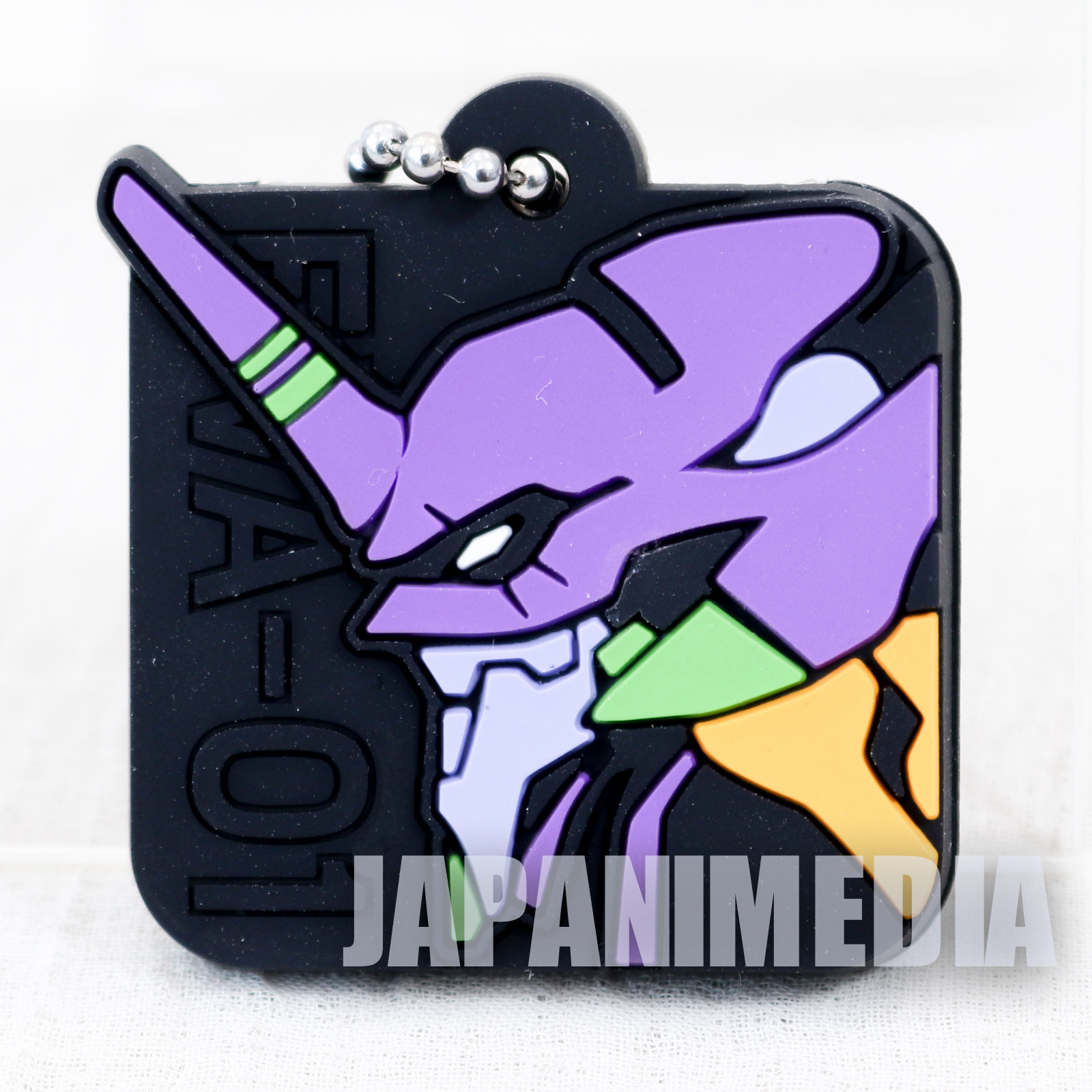 Evangelion EVA-01 Head Rubber Mascot Key Cover JAPAN ANIME