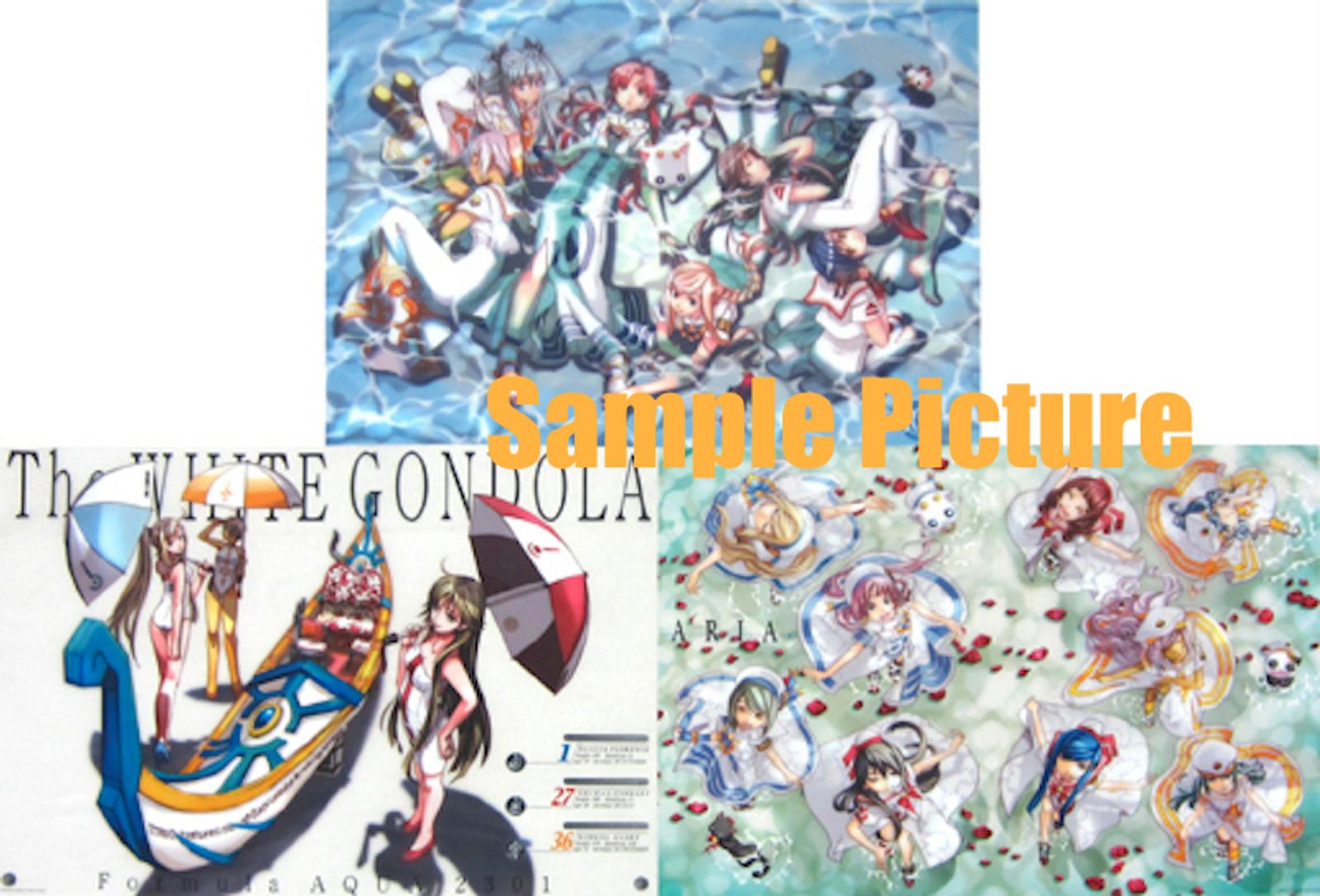 ARIA A3 Size Clear Poster 3pc Set Akari Alicia Aika Akira Alice Athena ANIME