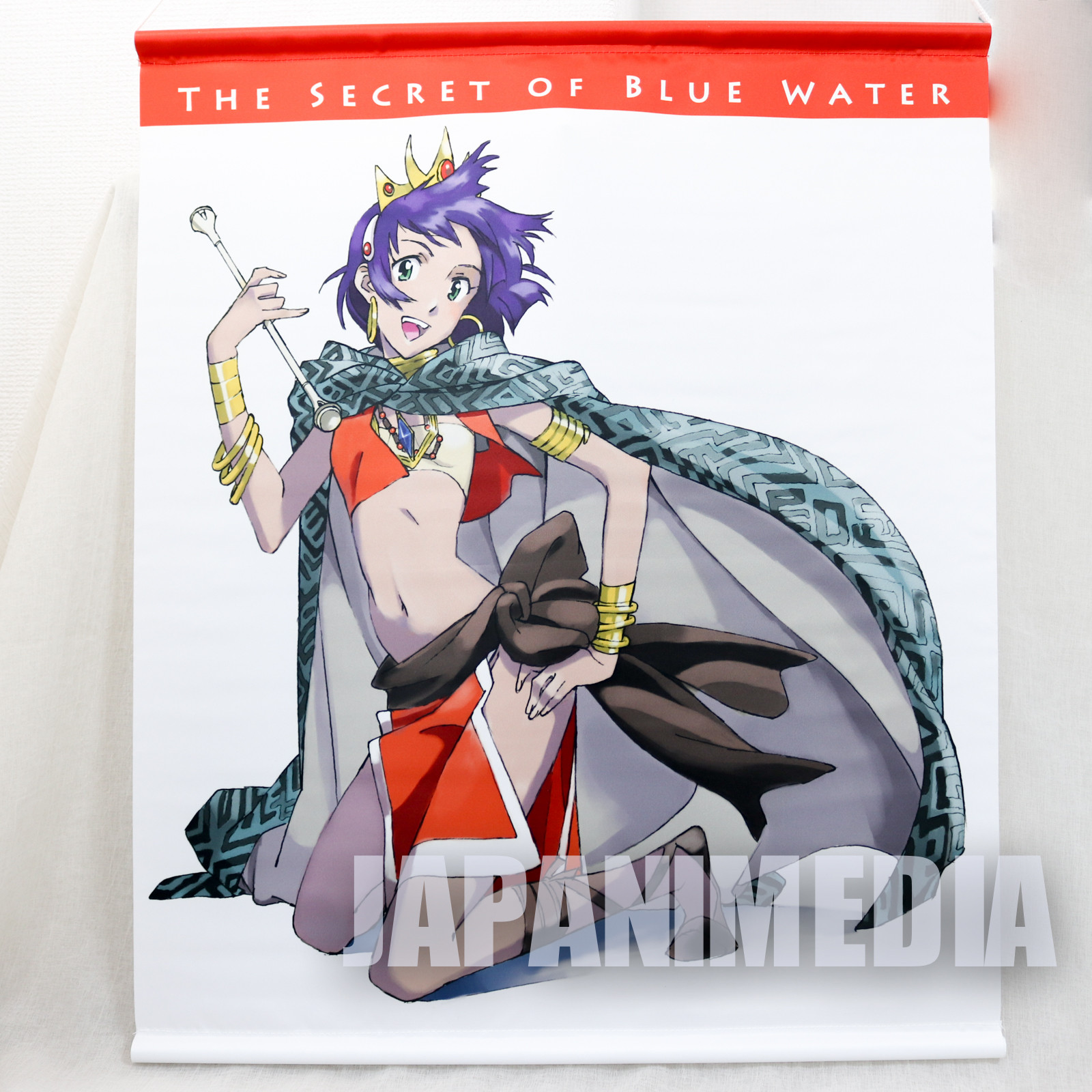 Nadia The Secret of Blue Water Tapestry 580mmÃ_15mm JAPAN ANIME GAINAX
