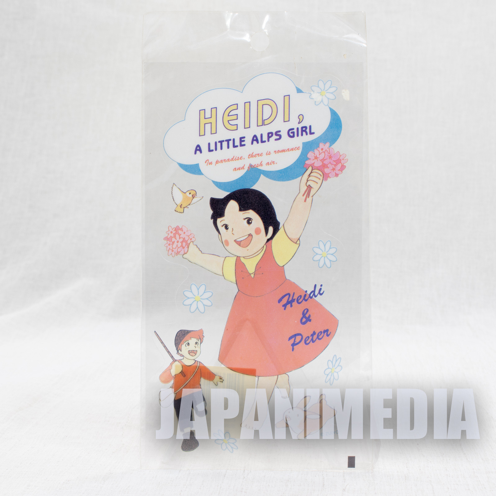 Heidi Girl of the Alps Clear Sticker [Heidi / Peter] JAPAN ANIME