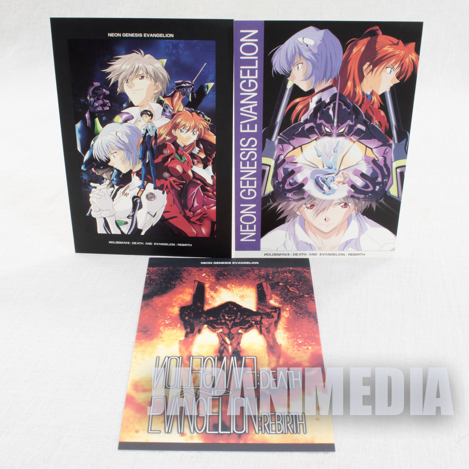Evangelion Post Card 3pc Set [Shinji / Rei / Asuka / Kaworu] JAPAN ANIME