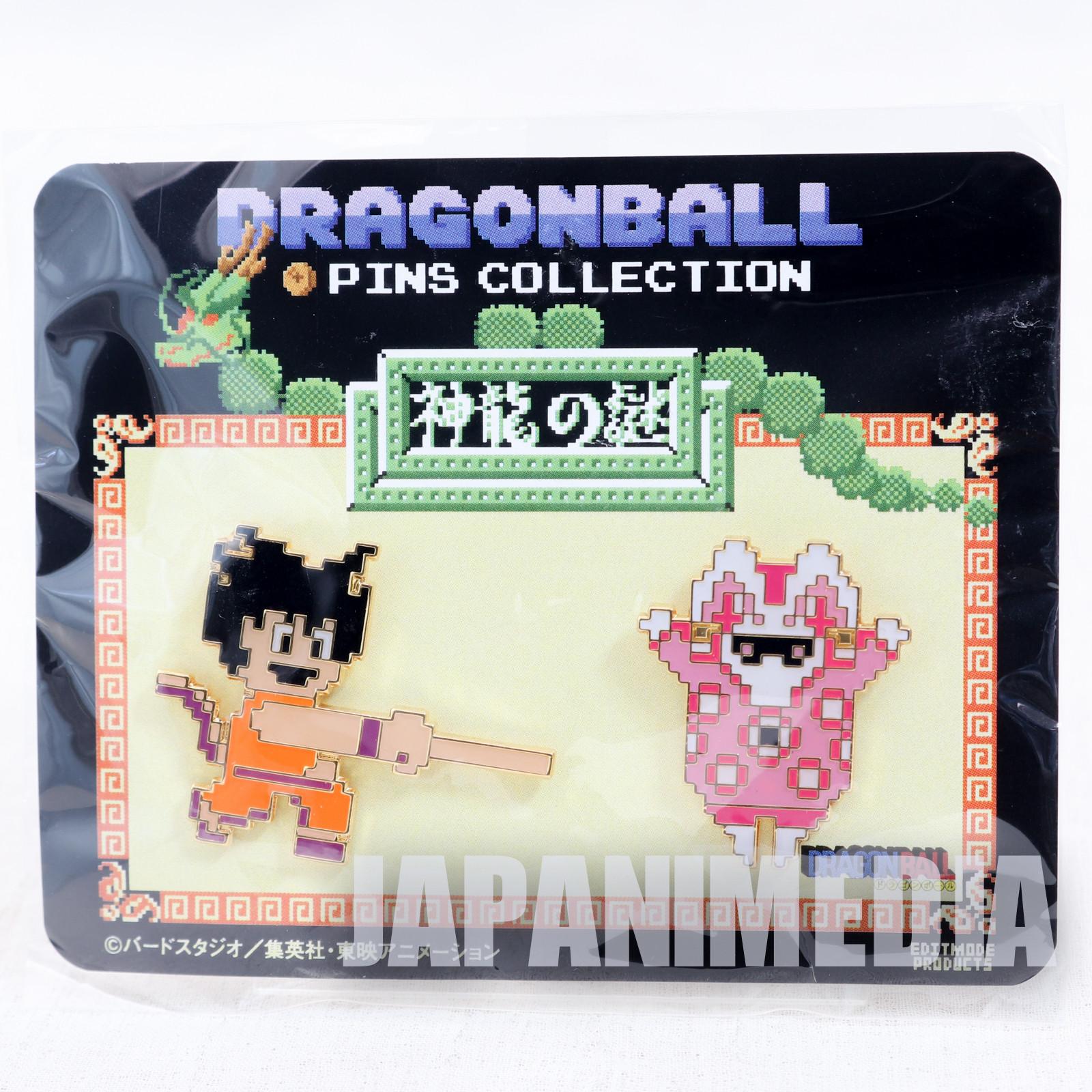 Dragon Ball Shenron no Nazo Famicom NES Metal Pins 2pc Set #3 JAPAN POWER
