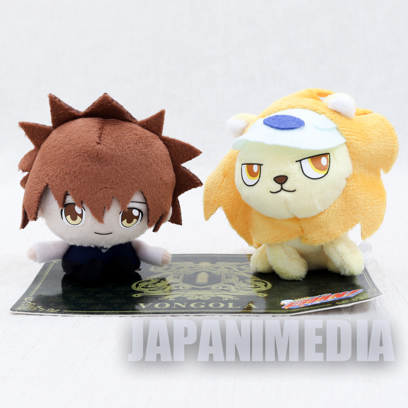 Katekyo Hitman Reborn Tsunayoshi Sawada & Nuts WJ 50th Anniversary Plush doll set  JAPAN MANGA