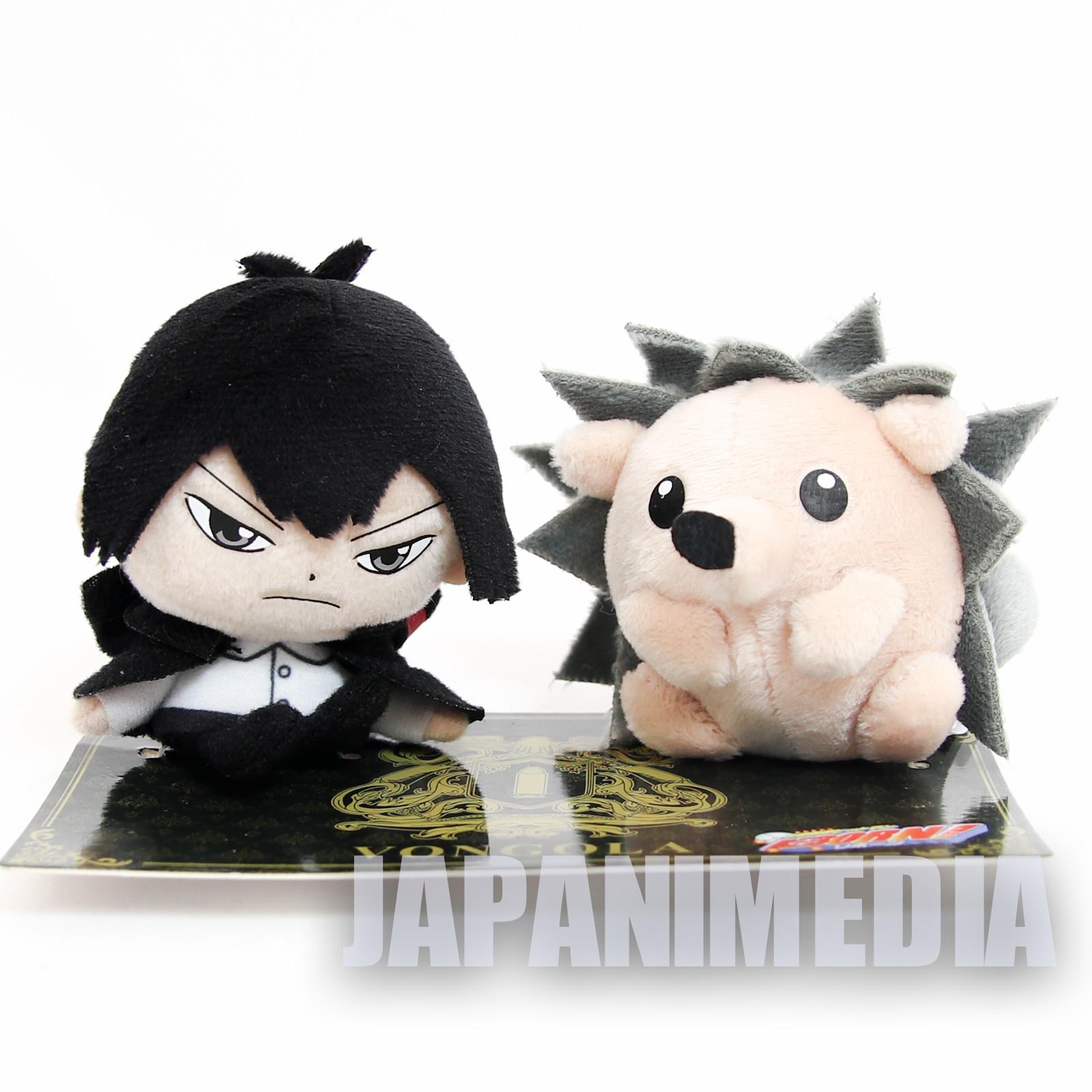 Katekyo Hitman Reborn Kyoya Hibari & Roll WJ 50th Anniversary Plush doll set  JAPAN MANGA