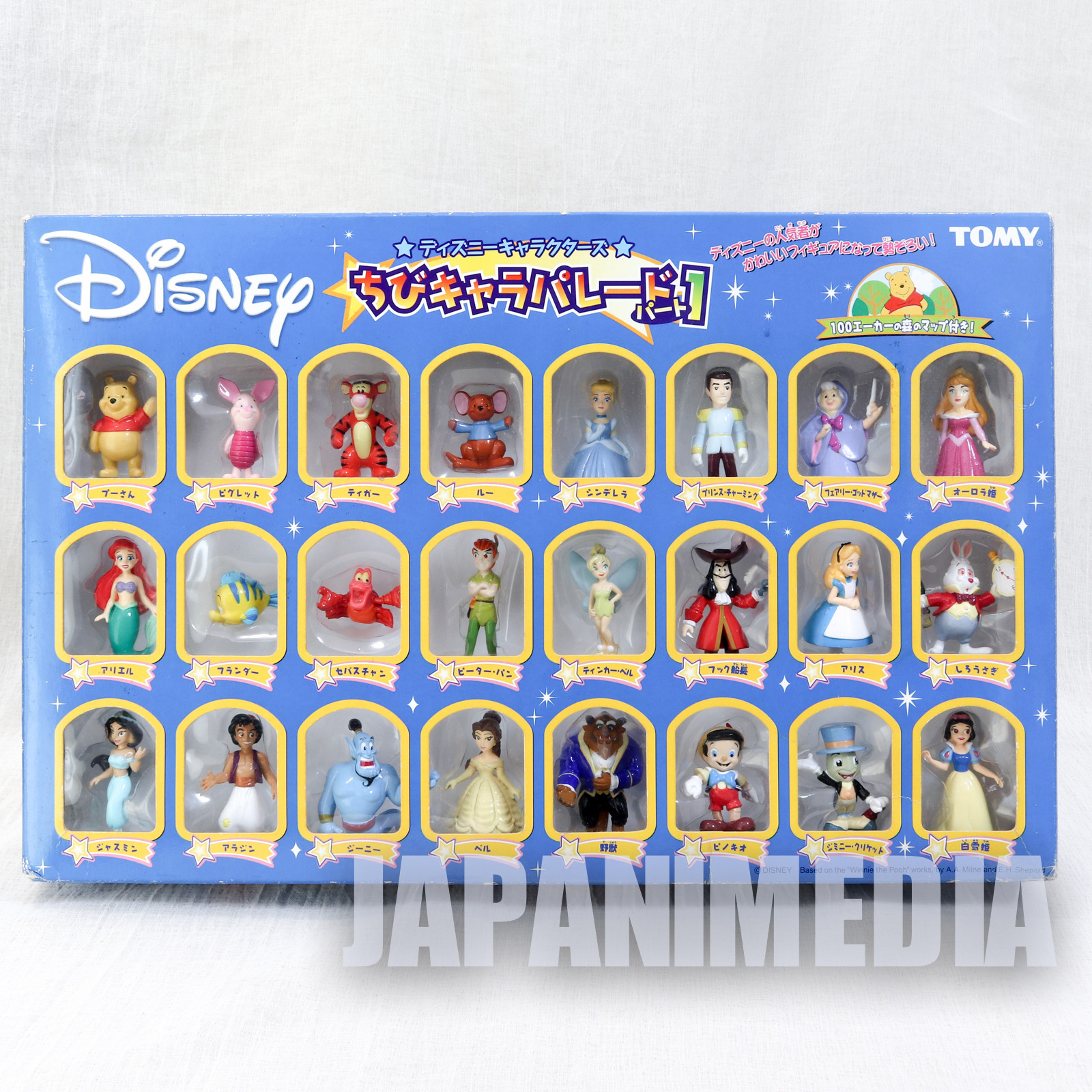 Disney Characters Chibi Chara Parade Vol.1 Mascot Figure 24pc set Tomy JAPAN