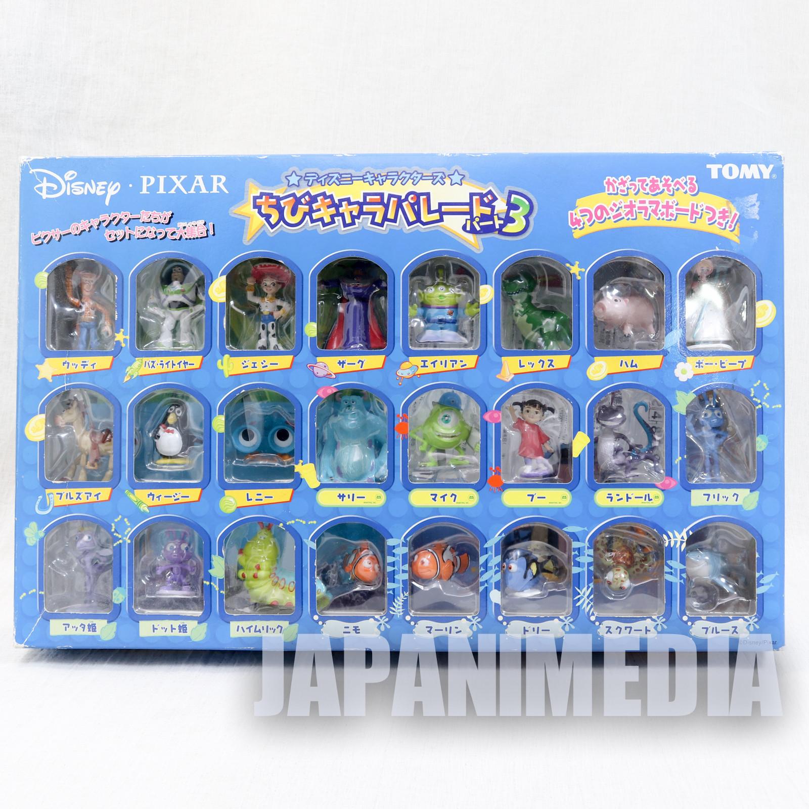 Disney Characters Chibi Chara Parade Vol.3 Mascot Figure 24pc set Tomy JAPAN