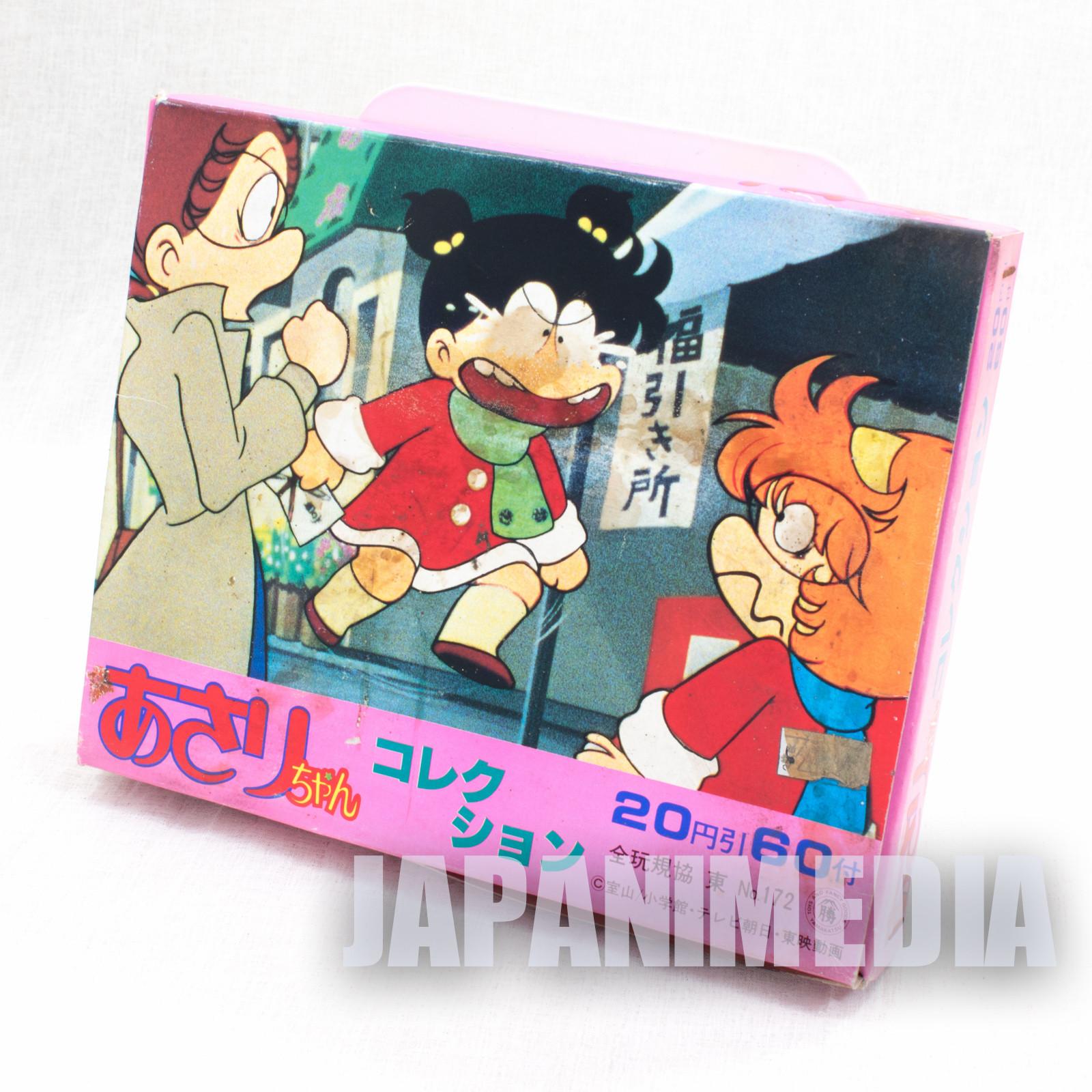 Retro RARE Asari chan Sticker 60pc & Notebook Set 3pc JAPAN ANIME