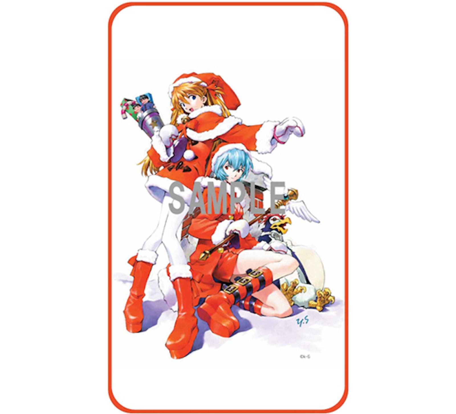 Evangelion Asuka Langley Rei Ayanami Christmas Fleece Rap Robe Blanket 70Ã_20cm