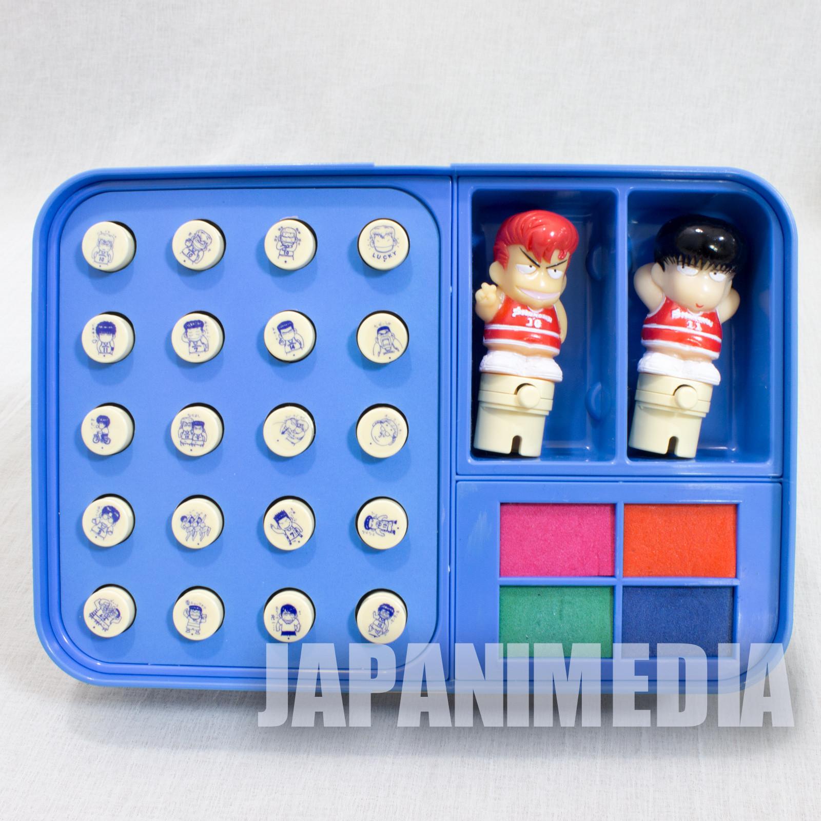 Retro RARE! SLAM DUNK Hanamichi Sakurai Kaede Rukawa Stamp Set JAPAN ANIM
