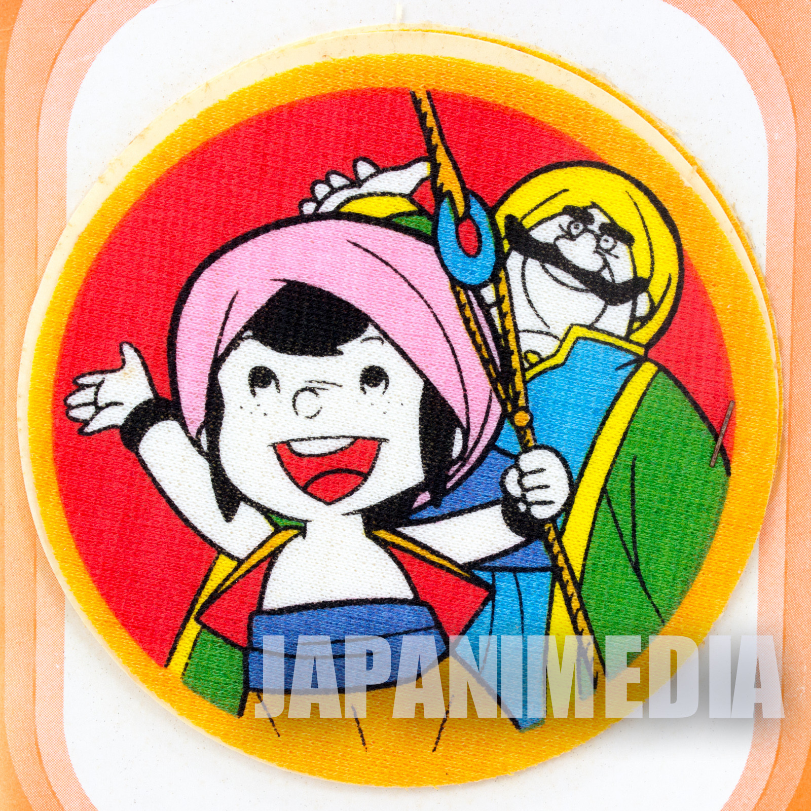 Retro Rare!! Arabian Nights: Adventures of Sindbad Emblem Badge Wappen 2pc set JAPAN ANIME 3